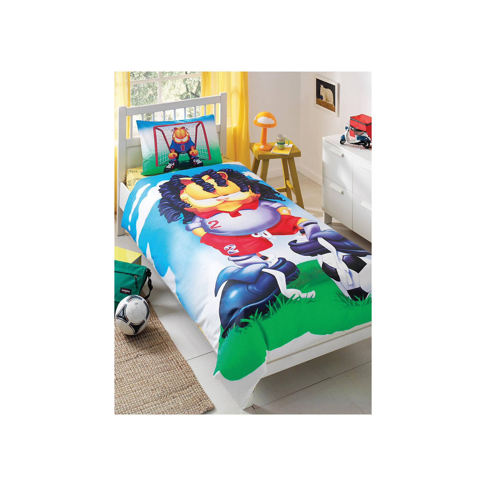 TAC Комплект Футбол 1,5-спальный, Кот Гарфилд комплект сакура розовый размер 1 5 спальный