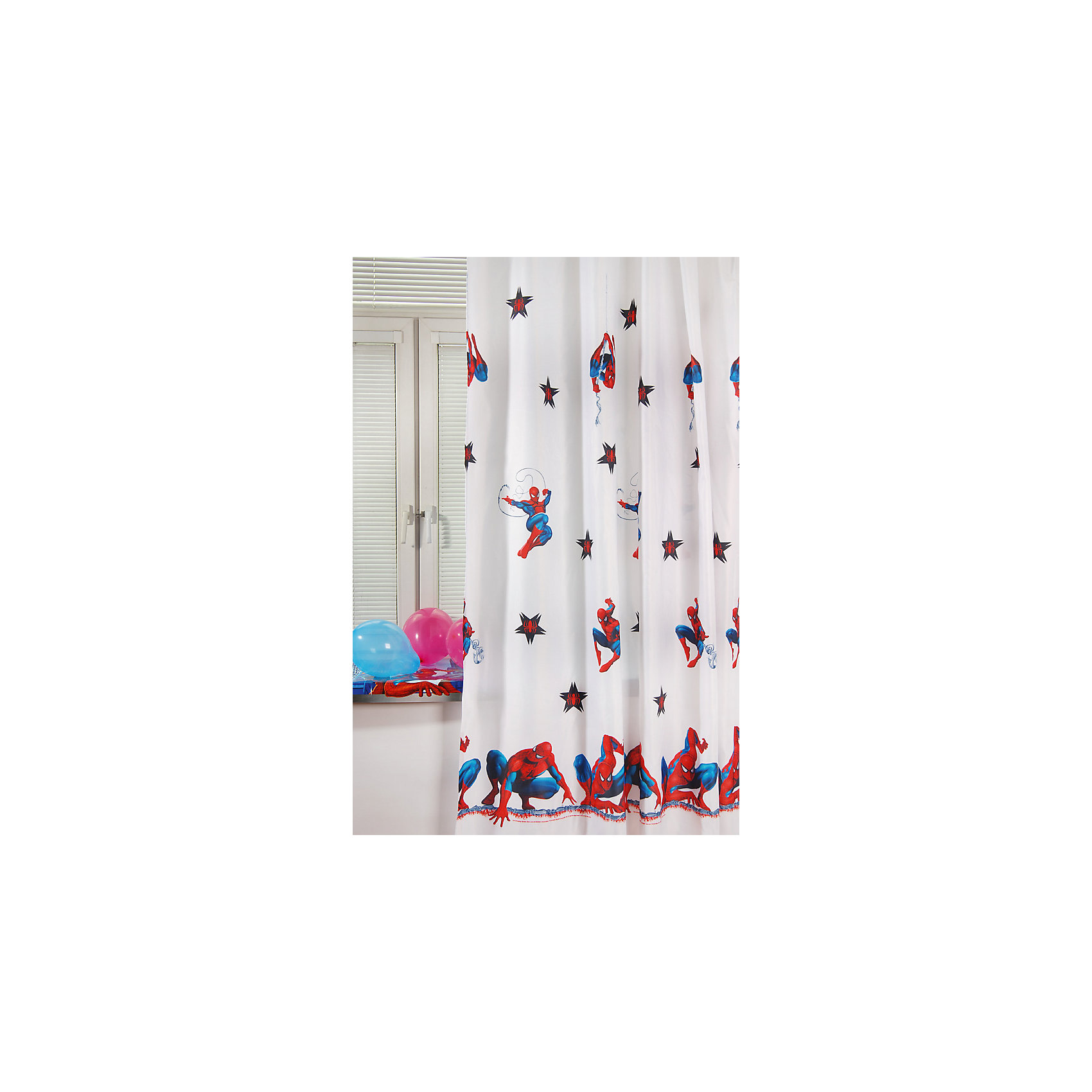 TAC Белая портьера Человек-Паук 200 * 265 (высота) см tac портьера детская 200см х 265см персиковый