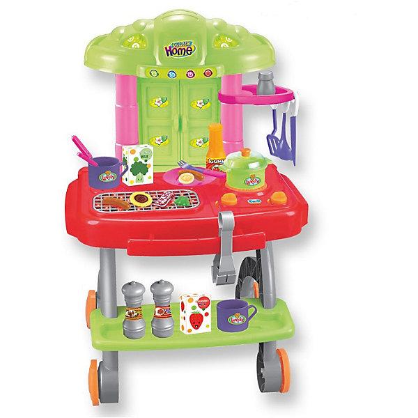 Игровой набор для барбекю Летний пикник, сборный, со звуком и светом, ALTACTOДетские кухни<br>Устройте вместе с детьми незабываемый пикник! В этом вам поможет Игровой набор от торговой марки Altacto! Это увлекательный барбекю на колёсах: столик, полочка, шкафчик. Есть конфорка, решётка барбекю с углями, которые светятся при повороте ручки, и слышен звук жарки. При вращении второй ручки у конфорки загораются лампочки - звук кипения воды. При нажатии на кнопку работает таймер. Материал - пластмасса. В комплекте: 22 аксессуара (столовые приборы, посуда, специи, продукты), наклейки для украшения, инструкция. Развивает логическое мышление, воображение, мелкую моторику и коммуникабельность. Работает от 3х батареек (не входят в комплект).<br><br>Ширина мм: 365<br>Глубина мм: 155<br>Высота мм: 575<br>Вес г: 2425<br>Возраст от месяцев: 36<br>Возраст до месяцев: 72<br>Пол: Женский<br>Возраст: Детский<br>SKU: 4342829
