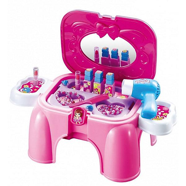 Игровой набор Салон красоты, сборный, со звуком, ALTACTOСалон красоты<br>Характеристики товара:<br><br>• возраст: от 3 лет;<br>• размер упаковки: 40х27х21 см.;<br>• размер стульчика: 31х25х19 см.;<br>• количество предметов: 15;<br>• тип батареек: 1хАА (не входят в комплект);<br>• состав: пластик;<br>• упаковка: картонная коробка;<br>• вес в упаковке: 1,3 кг.;<br>• бренд, страна: ALTACTO, Китай;<br>• страна-производитель: Китай.<br><br>Игровой набор «Салон красоты» от Altacto  - с этим необычным набором каждая девочка почувствует себя сказочной красавицей! Что может быть лучше, чем повертеться перед зеркалом, продумывая новый образ? Порадуйте своего ребенка таким замечательным подарком!<br><br>Сам набор легко собирается в маленький стульчик, на котором сможет сидеть малыш. В комплект входят 15 аксессуаров (лаки, помада, украшения), расческа, фен и красивые наклейки. Фен работает, как настоящий! Он шумит при работе и гонит воздух. Крышка стульчика имеет встроенное зеркало.<br><br>Набор изготовлен из качественных и безопасных материалов. Для работы игрушки необходима 1 батарейка типа АА (не входит в комплект).<br><br>Ваш ребенок несомненно с интересом будет изучать особенности набора, развивая логическое мышление и придумывая увлекательные сюжетно-ролевые игры.<br><br>Игровой набор «Салон красоты», 15 предметов, сборный со звуком от Altacto можно купить в нашем интернет-магазине.<br>Ширина мм: 390; Глубина мм: 270; Высота мм: 190; Вес г: 1400; Возраст от месяцев: 36; Возраст до месяцев: 72; Пол: Женский; Возраст: Детский; SKU: 4342836;
