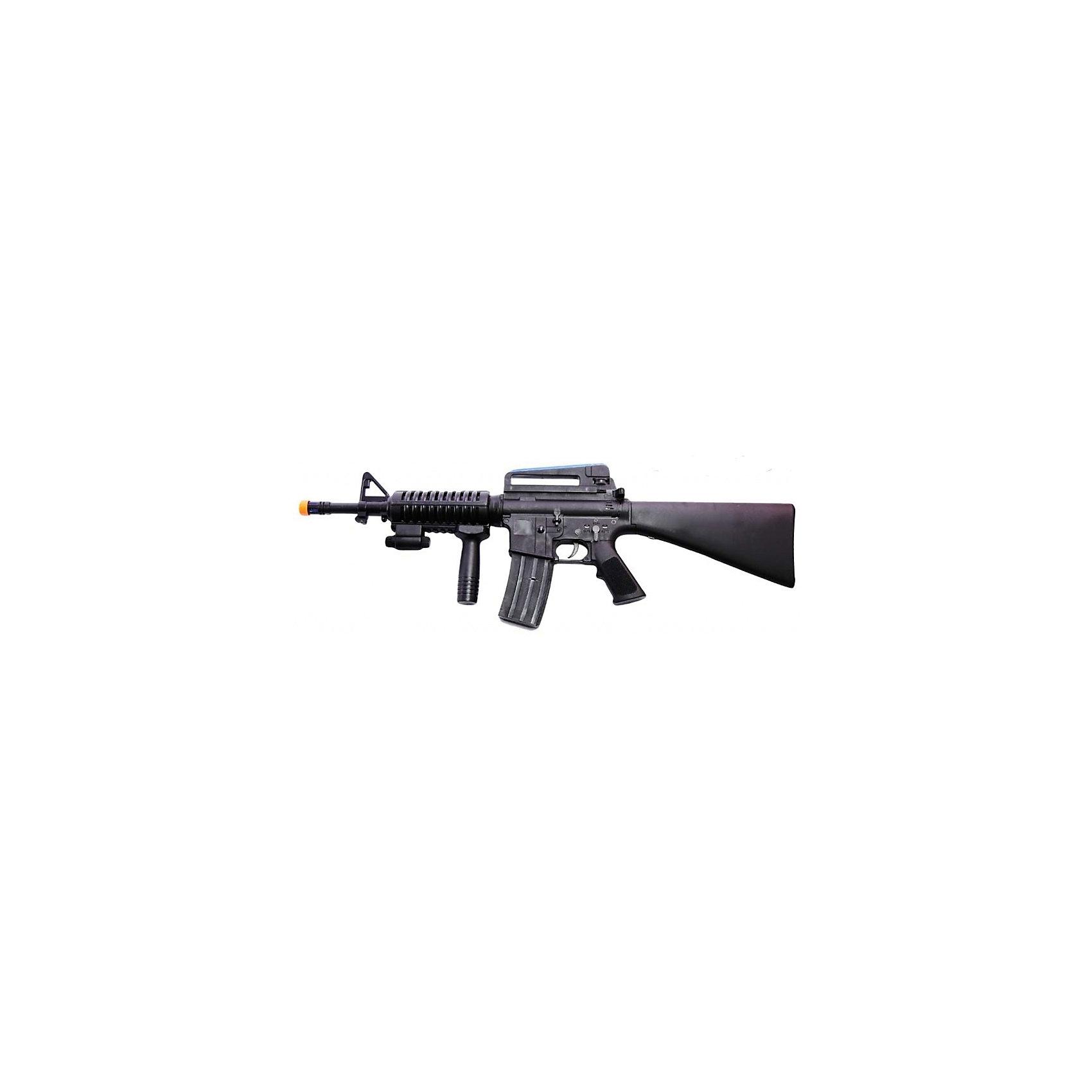 Автомат Вооружение спецназа, со звуком и светом, Mioshi ArmyБластеры, пистолеты и прочее<br>Автомат со звуковыми эффектами, подсветкой и режимом вибрации. Изготовлен из прочного пластика высокого качества. Почувствуй себя настоящим бойцом спецназа!  Материал: пластик. В комплект входят 4 батарейки типа АА<br><br>Ширина мм: 480<br>Глубина мм: 250<br>Высота мм: 50<br>Вес г: 846<br>Возраст от месяцев: 36<br>Возраст до месяцев: 72<br>Пол: Мужской<br>Возраст: Детский<br>SKU: 4342842