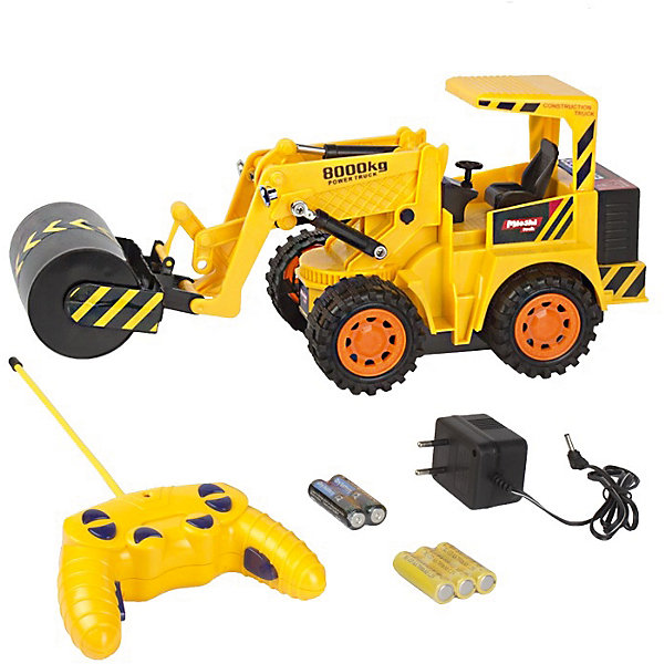 Каток, р/у, 30 см, Mioshi TechРадиоуправляемые машины<br>Каток, р/у, 30 см, Mioshi Tech<br><br>Характеристики:<br><br>• Возраст: от 3 лет<br>• Цвет: желтый<br>• Материал: пластик, металл<br>• Размер игрушки: 30 см<br>• В комплекте: каток, ПДУ, зарядное устройство, 2 батарейки АА для пульта, 3 аккумуляторных батарейки для игрушки<br>• Страна: Китай<br><br>Высококачественная сборка машинки позволит ребенку играть, не боясь, что что-то сломается в процессе. Крепкие колеса и схожесть с настоящим трактором сделает игру более реальной. Каток может сделать ровным песок, землю и даже утрамбовать влажную почву. С помощью такого трактора ребенок сможет узнать обо всех функциях, которые выполняет настоящий каток. Игрушка не потеряет цвет и не выделяет токсичных веществ, поэтому полностью безопасна для детей.<br><br>Каток, р/у, 30 см, Mioshi Tech можно купить в нашем интернет-магазине.<br>Ширина мм: 340; Глубина мм: 130; Высота мм: 255; Вес г: 894; Возраст от месяцев: 72; Возраст до месяцев: 144; Пол: Мужской; Возраст: Детский; SKU: 4342850;