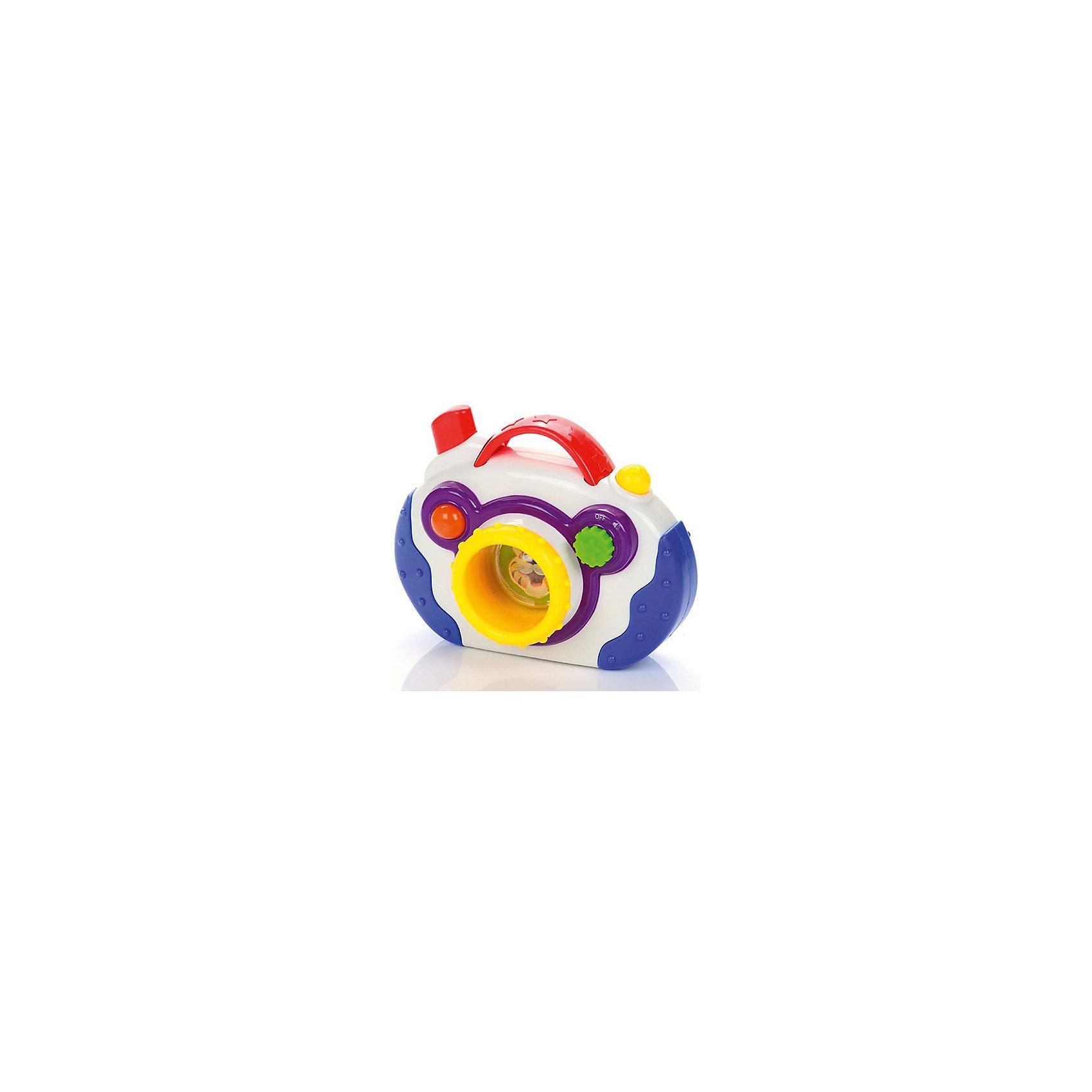 Развивающая игрушка Фотоаппарат, со светом и звуком, МалышарикиИнтерактивные игрушки для малышей<br>Развивающая игрушка Фотоаппарат, со светом и звуком, Малышарики<br><br>Характеристики:<br><br>• световые и звуковые эффекты<br>• яркий дизайн<br>• развивает мелкую моторику, воображение, звуковое восприятие и внимательность<br>• материал: пластик<br>• размер игрушки: 12,5х10х6 см<br><br>Игрушка фотоаппарат по настоящему волшебная! Она может менять изображение при нажатии на кнопку и даже издает веселые звуки. Фотоаппарат имеет рельефную поверхность, что поможет развить мелкую моторику крохи. Играя, ребенок научится устанавливать причинно-следственные связи и будет развивать цветовое и звуковое восприятие. Все материалы, использованные при изготовлении игрушки, безопасны для детей. Яркий фотоаппарат с множеством кнопок - прекрасный подарок для вашего малыша!<br><br>Развивающую игрушку Фотоаппарат, со светом и звуком, Малышарики вы можете купить в нашем интернет-магазине.<br><br>Ширина мм: 210<br>Глубина мм: 160<br>Высота мм: 78<br>Вес г: 271<br>Возраст от месяцев: 12<br>Возраст до месяцев: 36<br>Пол: Унисекс<br>Возраст: Детский<br>SKU: 4342854