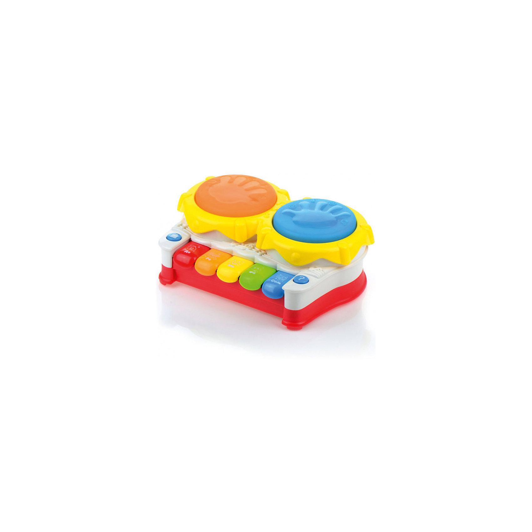 Развивающая игрушка Музыкальная установка, со светом и звуком, МалышарикиРазвивающая игрушка Музыкальная установка поможет малышу научиться различать животных по звукам. Развивает мелкую моторику и слуховое восприятие, а так же логическое мышление. Игра станет ещё интересней благодаря световым эффектам. Игрушка выполнена в ярком дизайне и из безопасных материалов.<br><br>Ширина мм: 215<br>Глубина мм: 160<br>Высота мм: 90<br>Вес г: 626<br>Возраст от месяцев: 12<br>Возраст до месяцев: 36<br>Пол: Унисекс<br>Возраст: Детский<br>SKU: 4342855
