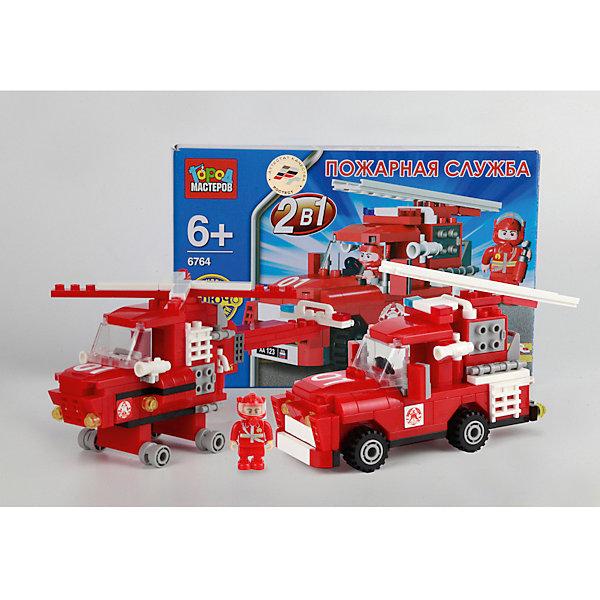 Конструктор 2-в-1 Пожарная Служба, 140 дет., Город мастеровПластмассовые конструкторы<br>Хочешь почувствовать себя настоящим пожарным? С этим набором сделать это - проще простого! Собери пожарную машину или вертолет и отправляйся на войну с огнем! Все элементы конструктора имеют прочные надежные крепления, выполнены из высококачественного пластика с применением экологичных, безопасных для детей красителей. Конструирование увлекательное и полезное занятие, с помощью которого ребенок сможет развить мелкую моторику, внимание, усидчивость и ,конечно, получит массу положительных эмоций. <br><br>Дополнительная информация:<br><br>- Материал: пластик.<br>- Размер упаковки: 23х5х15 см.<br>- Количество деталей: 140.<br>- Комплектация: детали конструктора, фигурка водителя.<br>- Колеса автомобиля подвижные. <br>- Винт вертолета вращается. <br>- Набор совместим с конструкторами мировых производителей. <br><br>Конструктор 2-в-1 Пожарная Служба, 140 дет., Город мастеров, можно купить в нашем магазине.<br><br>Ширина мм: 320<br>Глубина мм: 480<br>Высота мм: 480<br>Вес г: 290<br>Возраст от месяцев: 72<br>Возраст до месяцев: 144<br>Пол: Мужской<br>Возраст: Детский<br>SKU: 4344024
