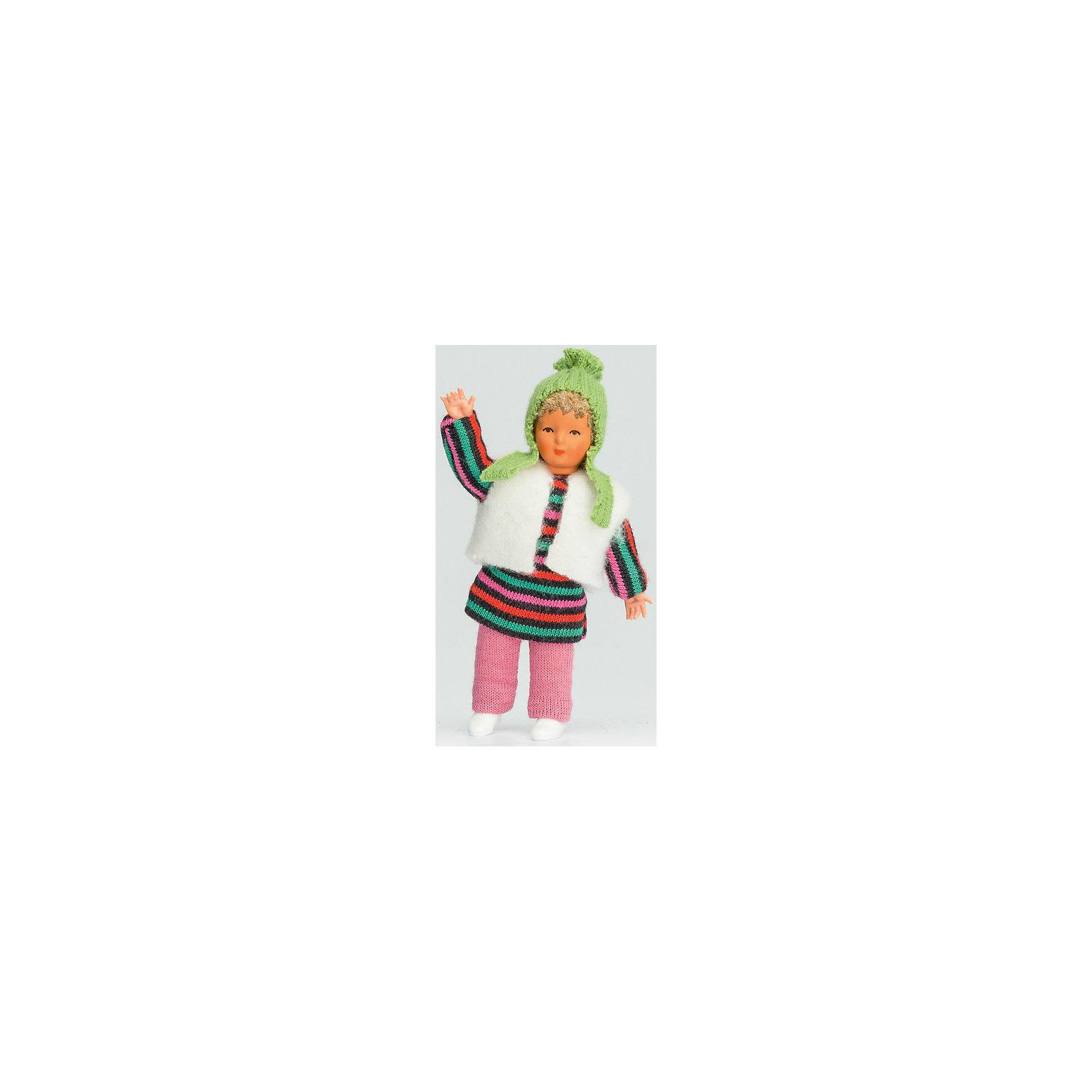 Мини-кукла Девочка в  полосатом платье, PUPSIQUEМини-кукла Девочка в  полосатом платье, PUPSIQUE – эта мини-кукла станет любимой подружкой вашей девочки и надолго займет ее внимание.<br>Миниатюрная куколка-пупс с детально прорисованными чертами лица и подвижными частями тела, выполненная вручную, специально создана для увлекательных игр и коллекционирования. Кукла одета в оригинальную дизайнерскую одежду: полосатое платье, белую жилетку, розовые штанишки и зеленую шапочку. Лицо куклы расписано вручную. Игрушка создана на старейшей фабрике в Германии из высококачественного гипоаллергенного материала. Маленький размер куклы позволяет играть в абсолютно любом месте, ее удобно брать с собой на занятия или весело проводить время в дороге во время путешествий. Для создания увлекательных игровых сцен с миниатюрной куколкой можно дополнять игру различными аксессуарами и новой одеждой.<br><br>Дополнительная информация:<br><br>- Высота куклы: 7 см.<br>- Материал: винил, текстиль<br>- Размер упаковки: 4 х 21 х 5 см.<br>- Вес: 400 гр.<br><br>Мини-куклу Девочка в  полосатом платье, PUPSIQUE можно купить в нашем интернет-магазине.<br><br>Ширина мм: 40<br>Глубина мм: 210<br>Высота мм: 50<br>Вес г: 400<br>Возраст от месяцев: 36<br>Возраст до месяцев: 192<br>Пол: Женский<br>Возраст: Детский<br>SKU: 4344920