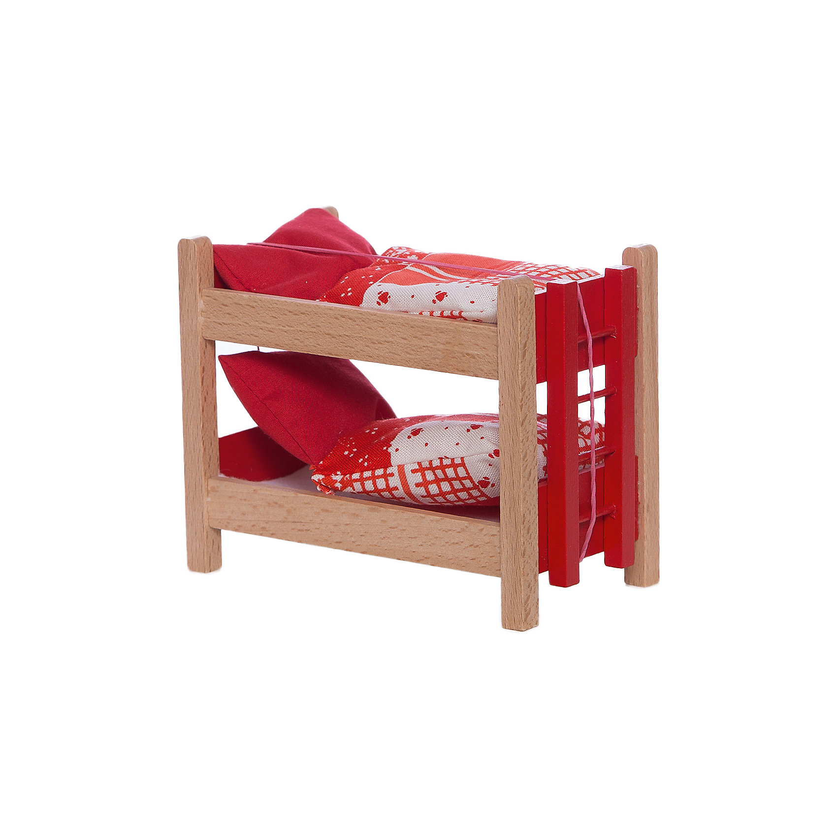 - Кровать двухъярусная с аксессуарами для мини-кукол