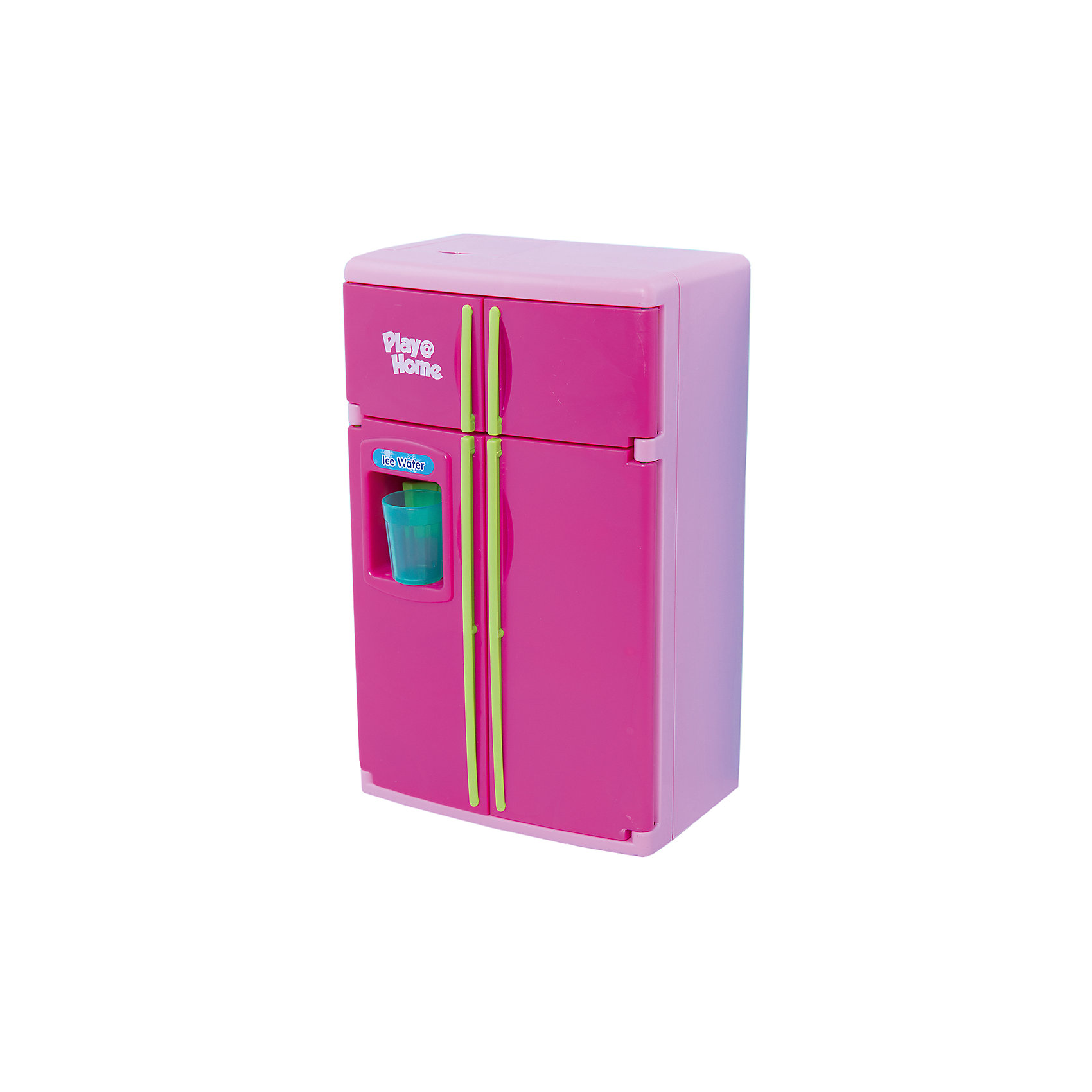 Холодильник, KeenwayВместительный двустворчатый холодильник выглядит как настоящий что, несомненно, порадует любую девочку. Полочки холодильника вынимаются, есть морозильная камера, при открывании дверок загорается свет. В холодильнике есть множество продуктов и даже специальное устройство для холодной воды: поднесите стакан, надавите им на рычаг, и вы услышите звук наливающейся воды.   Игрушка выполнена из высококачественного пластика, не имеют острых углов, безопасна для детей. Игровые наборы Маленькая хозяюшка развивают социальные навыки, прививают у ребенка любовь к труду. <br><br>Дополнительная информация:<br><br>- Комплектация: холодильник, 4 съемные полочки, лоток для овощей<br>большой стакан для холодной воды, продукты (курица-гриль, 5 яиц, мясо на тарелке, торт, кочан капусты, гроздь винограда, связка бананов), 2 пластиковых пакета (молоко и сок), 7 пластиковых бутылочек с соусами и напитками<br>- Размер: 29 х 14 х 32 см.<br>- Световые, звуковые эффекты.<br>- Элемент питания: 3 батарейки типа АА (в комплекте).<br><br>Холодильник, Keenway, можно купить в нашем магазине.<br><br>Ширина мм: 108<br>Глубина мм: 254<br>Высота мм: 381<br>Вес г: 1881<br>Возраст от месяцев: 36<br>Возраст до месяцев: 84<br>Пол: Женский<br>Возраст: Детский<br>SKU: 4345024