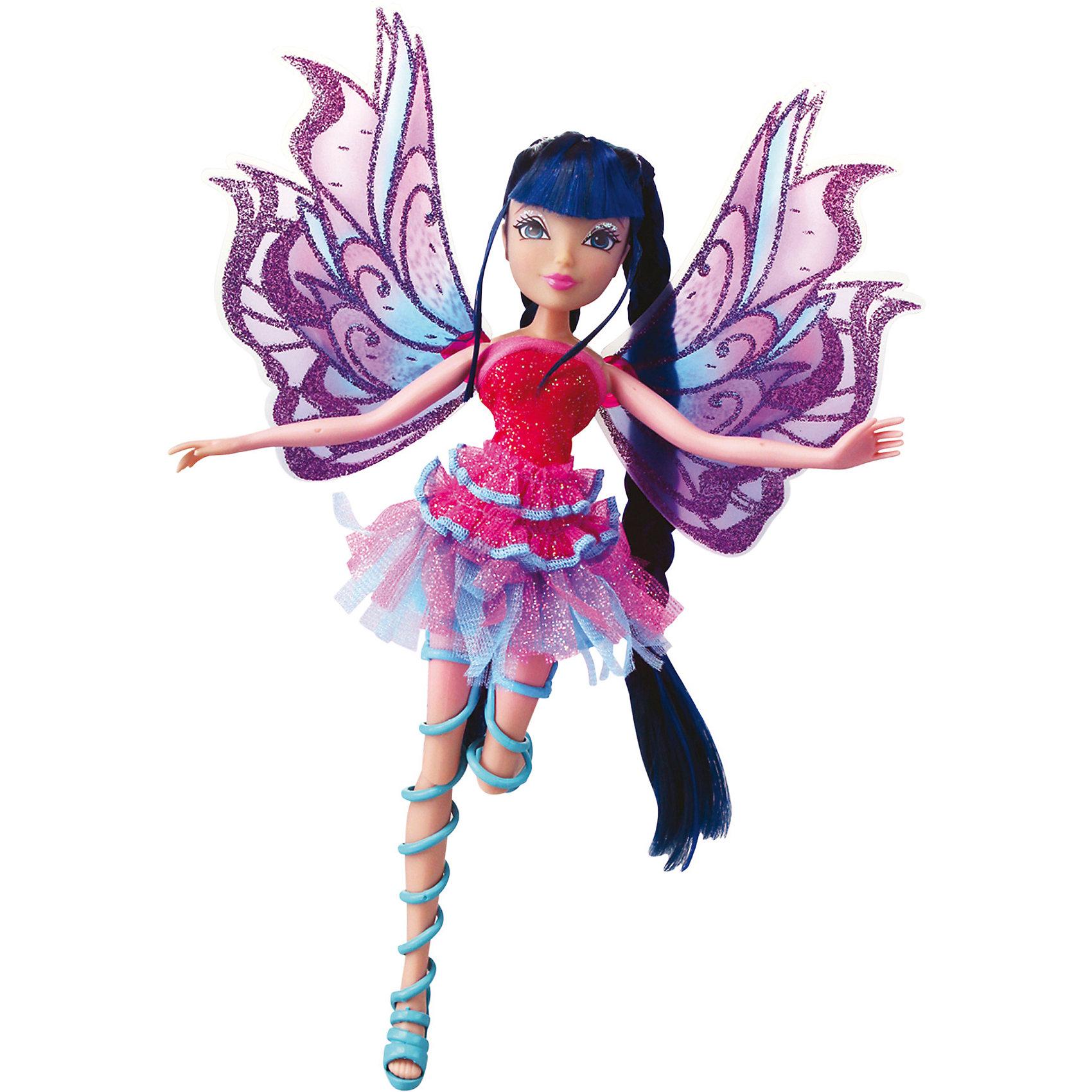 Кукла Winx Club Мификс МузаWinx Club<br>Очаровательные куколки выглядят в точности так же, как и героини мультсериала «Winx Club» (Винкс Клуб). Красавица - Муза одета в блестящее платье с приталенным лифом и пышной юбкой, на ногах куколки - оригинальные босоножки, в руках- волшебный скипетр. Длинные мягкие волосы очень приятно расчесывать, создавая великолепные прически. Позвольте вашей девочке почувствовать себя настоящей феей вместе с любимыми героинями. Собери все куколок, проигрывай запомнившиеся моменты из мультсериала или придумывай свои новые истории! <br><br>Дополнительная информация:<br><br>- Комплектация: кукла, скипетр, съемные крылья, одежда, обувь.<br>- Материал:  пластик, текстиль. <br>- Высота куклы: 27 см.<br>- Голова, руки, ноги подвижные. <br><br>Куклу Winx Club Мификс, Музу, можно купить в нашем магазине.<br><br>Ширина мм: 290<br>Глубина мм: 60<br>Высота мм: 345<br>Вес г: 375<br>Возраст от месяцев: 36<br>Возраст до месяцев: 84<br>Пол: Женский<br>Возраст: Детский<br>SKU: 4345031