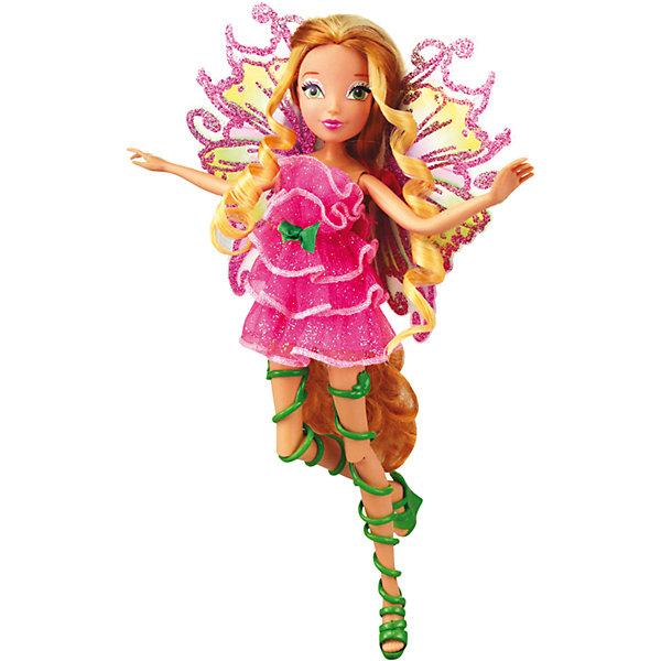 Кукла Winx Club Мификс ФлораБренды кукол<br>Очаровательные куколки выглядят в точности так же, как и героини мультсериала «Winx Club» (Винкс Клуб). Красавица - Флора одета в нереальное розовое платье, украшенное нежными рюшами и маленьким бантиком, на ногах куколки - оригинальные босоножки, в руках- волшебный скипетр. Длинные мягкие волосы очень приятно расчесывать, создавая великолепные прически. Позвольте вашей девочке почувствовать себя настоящей феей вместе с любимыми героинями. Собери все куколок, проигрывай запомнившиеся моменты из мультсериала или придумывай свои новые истории! <br><br>Дополнительная информация:<br><br>- Комплектация: кукла, скипетр, съемные крылья, одежда, обувь.<br>- Материал:  пластик, текстиль. <br>- Высота куклы: 27 см.<br>- Голова, руки, ноги подвижные. <br><br>Куклу Winx Club Мификс, Флору, можно купить в нашем магазине.<br>Ширина мм: 290; Глубина мм: 60; Высота мм: 345; Вес г: 375; Возраст от месяцев: 36; Возраст до месяцев: 84; Пол: Женский; Возраст: Детский; SKU: 4345033;