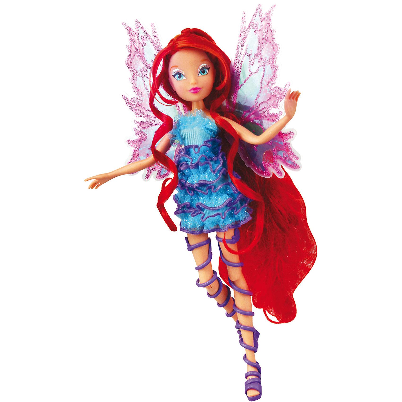 Кукла Winx Club Мификс БлумБренды кукол<br>Очаровательные куколки выглядят в точности так же, как и героини мультсериала «Winx Club» (Винкс Клуб). Красавица -Блум одета в нереальное голубое платье, украшенное нежными рюшами, на ногах куколки - оригинальные босоножки, в руках- волшебный скипетр. Длинные мягкие волосы очень приятно расчесывать, создавая великолепные прически. Позвольте вашей девочке почувствовать себя настоящей феей вместе с любимыми героинями. Собери все куколок, проигрывай запомнившиеся моменты из мультсериала или придумывай свои новые истории! <br><br>Дополнительная информация:<br><br>- Комплектация: кукла, скипетр, съемные крылья, одежда, обувь.<br>- Материал:  пластик, текстиль. <br>- Высота куклы: 27 см.<br>- Голова, руки, ноги подвижные. <br><br>Куклу Winx Club Мификс, Блум, можно купить в нашем магазине.<br><br>Ширина мм: 290<br>Глубина мм: 60<br>Высота мм: 345<br>Вес г: 375<br>Возраст от месяцев: 36<br>Возраст до месяцев: 84<br>Пол: Женский<br>Возраст: Детский<br>SKU: 4345034