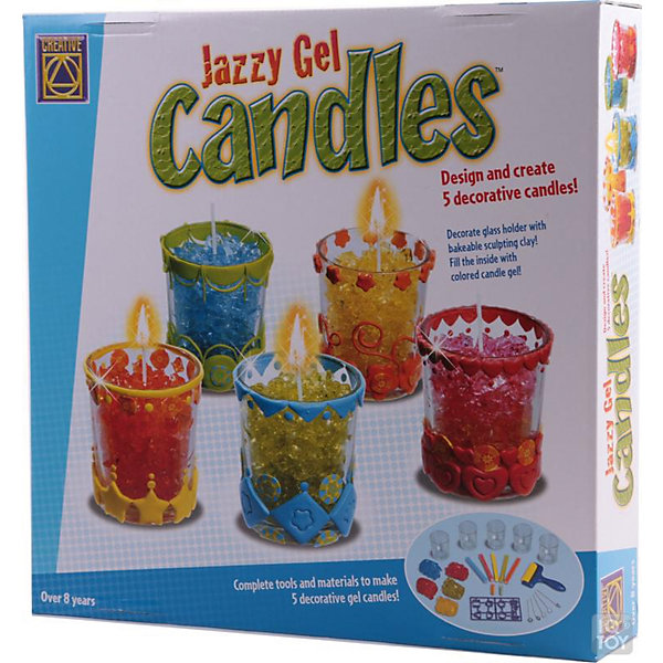 Гелевые свечи, CreativeНаборы для создания свечей<br>Набор для создания гелевых свечей придется по душе всем любителям декоративного искусства, занимательный процесс изготовления свечей увлечет всю семью и даст возможность каждому проявить свою фантазию и художественный вкус. В наборе Вы найдете все необходимое для создания пяти декоративных свечей: бруски из специального материала, пакетики с гелем разных цветов, формочки для нарезки, стеклянные стаканчики и многое другое. Процесс изготовления прост и безопасен для детей: с помощью брусков специального материала и дизайнерских палочек украсьте стеклянные подсвечники красивыми узорами, затем поместите в центр каждого стакана фитиль и наполните гелем - оригинальная свеча готова! При горении гелевой свечи Вы увидите красивые световые эффекты - каждый кусочек геля будет одновременно отражать и пропускать свет. Нарядные свечи станут замечательным украшением интерьера или запоминающимся подарком для родных и друзей. Набор способствует развитию мелкой моторики, воображения, творческих и художественных способностей. <br><br>Дополнительная информация:<br><br>- В комплекте: 5 брусков специального материала, 2 дизайнерские палочки специального материала, 5 фитилей, 10 пластиковых формочек для нарезки, 5 пакетиков с гелем (красный, синий, желтый, зеленый, оранжевый), роллер для раскатывания, 5 стеклянных подсвечников,<br>  инструкция.<br>- Материал: гель, пластик, стекло.<br>- Длина бруска: 10 см.<br>- Длина дизайнерской палочки: 3 см.<br>- Размер подсвечника: 5,5 x 5,5 x 6,5 см.<br>- Размер упаковки: 30 x 30 x 6,5 см.<br>- Вес: 1,3 кг.<br><br>Гелевые свечи, Creative, можно купить в нашем интернет-магазине.<br><br>Ширина мм: 300<br>Глубина мм: 65<br>Высота мм: 300<br>Вес г: 1140<br>Возраст от месяцев: 84<br>Возраст до месяцев: 180<br>Пол: Унисекс<br>Возраст: Детский<br>SKU: 4346554