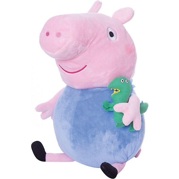 Мягкая игрушка Джордж с динозавром, 40 см, Свинка ПеппаМягкие игрушки из мультфильмов<br>Ваш малыш любит мультфильм «Свинка Пеппа»? Тогда он обязательно оценит большую игрушку в виде Джорджа с динозавром, с которой можно весело играть, развивая навыки общения и воображение. С этим мягким симпатягой малютка будет делиться своими маленькими секретиками и безмятежно спать ночью – ведь в обнимку с таким большим плюшевым другом сон гораздо слаще! А если приобрести других персонажей из серии «Peppa Pig», то все игры станут во много раз увлекательнее.<br><br>Дополнительная информация:<br><br>Мягкая игрушка «Джордж с динозавром» имеет высоту 40 см (размер указан с ножками) и очень приятна на ощупь, так как изготовлена из нежной велюровой ткани и плотно набита. <br>Глазки, носик и ротик Джорджа выполнены в виде плотной вышивки.<br><br>Мягкую игрушку Джордж с динозавром, 40 см, Свинка Пеппа можно купить в нашем магазине.<br>Ширина мм: 210; Глубина мм: 190; Высота мм: 400; Вес г: 280; Возраст от месяцев: 36; Возраст до месяцев: 72; Пол: Унисекс; Возраст: Детский; SKU: 4346598;