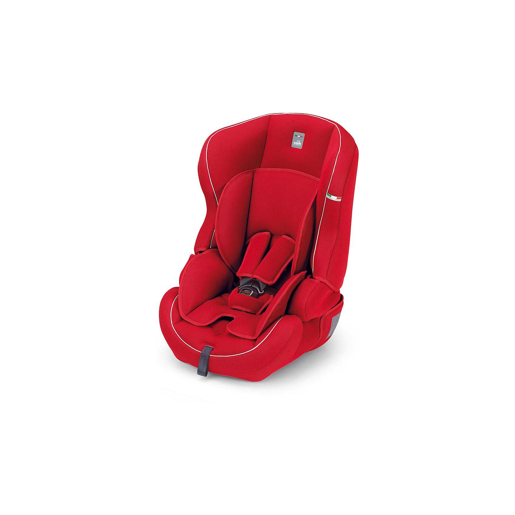 Автокресло Travel Evolution 2015, 9-36 кг, CAM, красныйАвтокресло Travel Evolution 2015, CAM - комфортная надежная модель, которая сделает поездку Вашего ребенка приятной и безопасной. Благодаря особой конструкции автокресло может использоваться в течении длительного времени и охватывает весовые категории детей от 1 года до 12 лет. Комфортное кресло оснащено ортопедической спинкой с регулируемым углом наклона и обеспечивает удобство сидения во время длительных поездок. Для малышей предусмотрен мягкий анатомический вкладыш. Пятиточечные ремни безопасности с мягкими плечевыми накладками регулируются по росту ребенка (три положения высоты внутренних ремней). Усиленная боковая защита убережёт ребёнка от серьезных травм.  <br><br>Автокресло легко и надежно устанавливается на заднее сиденье автомобиля по ходу движения. Для детей постарше (2-й группы, 3 -7 лет) ремни автокресла можно снять и использовать штатные ремни автомобиля, которые фиксируются специальными ограничителями. Для детей 3-й группы (6-12 лет) съемная спинка демонтируется и сиденье используется качестве бустера. Кресло изготовлено из высококачественных материалов, износостойкие тканевые чехлы снимаются для чистки или стирки при температуре 30 градусов. Рассчитано на детей от 1 года до 12 лет, весом 9-36 кг.<br><br>Дополнительная информация: <br><br>- Цвет: красный.<br>- Вес ребенка: 9-36 кг. ( 1-12 лет).<br>- Группа 1-2-3.<br>- Материал: пластик, текстиль. <br>- Внешние размеры: 49,5 x 51 x 65 см. <br>- Вес: 5,5 кг.<br><br>Автокресло Travel Evolution 2015, 9-36 кг., CAM, красный, можно купить в нашем интернет-магазине.<br><br>Ширина мм: 800<br>Глубина мм: 460<br>Высота мм: 450<br>Вес г: 5500<br>Цвет: ярко-красный<br>Возраст от месяцев: 12<br>Возраст до месяцев: 144<br>Пол: Унисекс<br>Возраст: Детский<br>SKU: 4347284