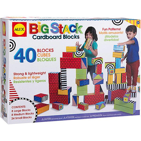 Набор Большие кубикиКубики<br>Этот конструктор из по-настоящему больших кубиков обязательно понравится детям. Все детали складываются из заготовок из плотного картона Из ярких кубиков можно построить крепость, на них можно даже стоять, придумывая все новые и новые игры. Различные узоры, напечатанные на фигурах открывают простор для детской фантазии и разнообразных игр. <br><br>Дополнительная информация:<br><br>- Материал: картон.<br>- Выдерживают вес  до 50 кг.<br>- В наборе 8 больших, 8 средних и 24 малых кубика.<br><br>Набор Большие кубики можно купить в нашем магазине.<br>Ширина мм: 50; Глубина мм: 14; Высота мм: 39; Вес г: 3828; Возраст от месяцев: 36; Возраст до месяцев: 72; Пол: Унисекс; Возраст: Детский; SKU: 4347883;