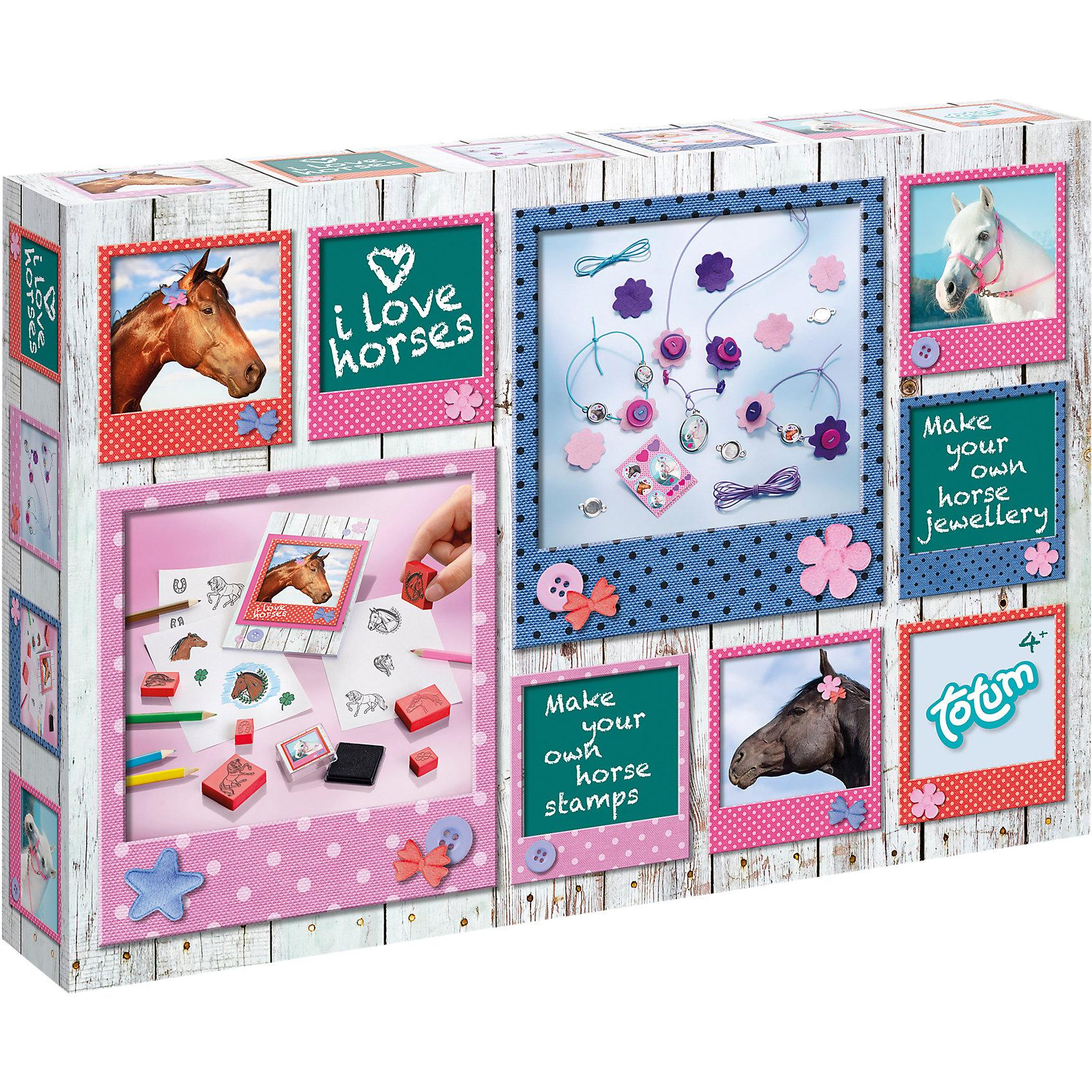 TOTUM Набор для творчества Люблю лошадок наборы для творчества татой набор для творчества насыпь на клей белочка