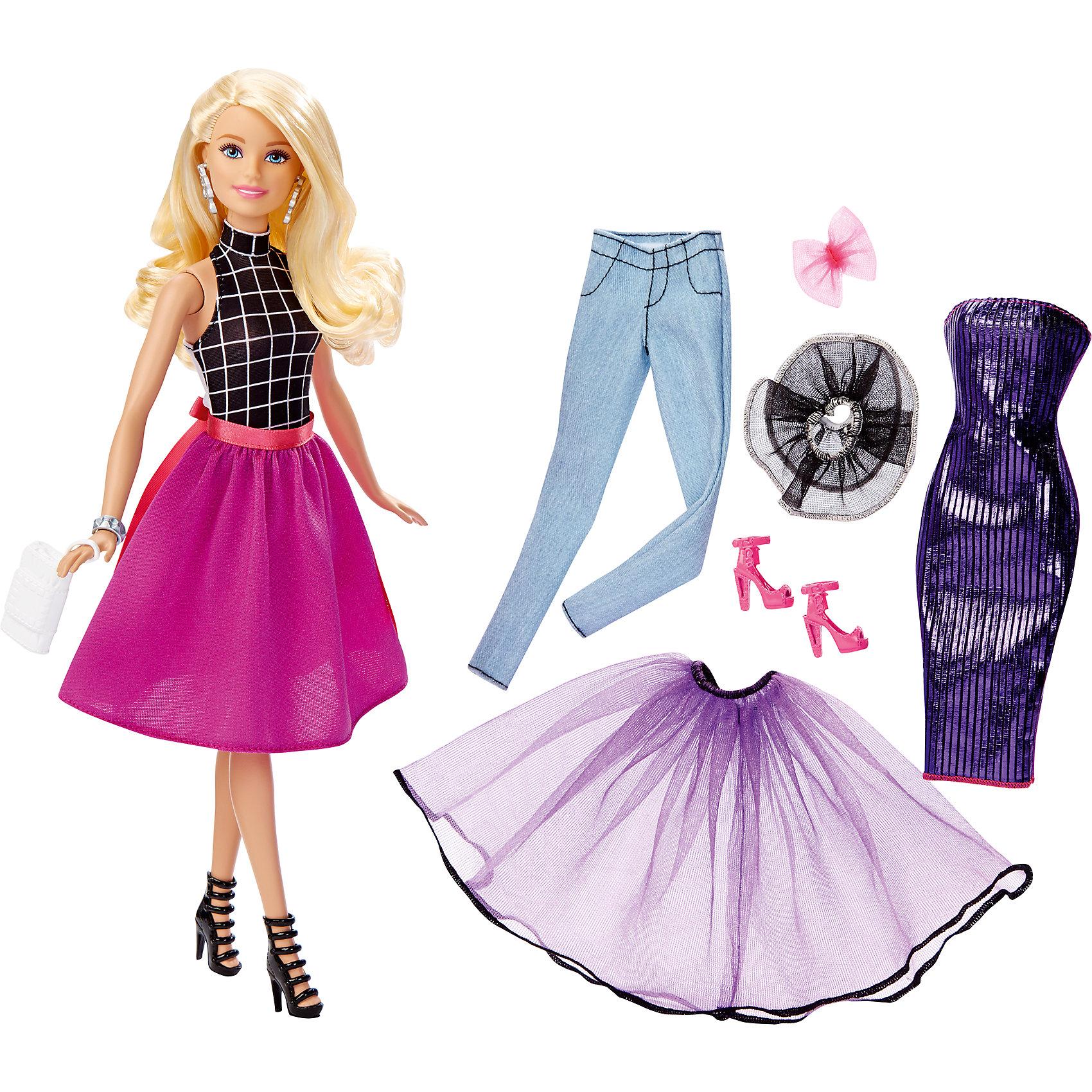 Mattel Кукла Сочетай и наряжай блондинка, Barbie mattel кукла набор одежды barbie