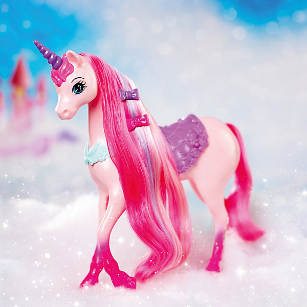 Единорог, BarbieТранспорт и коляски для кукол<br>Очаровательный единорог поражает своей красотой и изяществом! Длинную гриву лошадки так приятно расчесывать. В комплекте есть аксессуары для создания красивых причесок. Скорее помоги сказочному единорогу преобразиться и стать еще прекраснее! <br><br>Дополнительная информация:<br><br>- Материал: пластик.<br>- Размер куклы: 29 см.<br>- Комплектация: единорог, 2 заколки, расческа. <br><br>Единорога, Barbie (Барби), можно купить в нашем магазине.<br><br>Ширина мм: 324<br>Глубина мм: 279<br>Высота мм: 76<br>Вес г: 437<br>Возраст от месяцев: 36<br>Возраст до месяцев: 72<br>Пол: Женский<br>Возраст: Детский<br>SKU: 4349926
