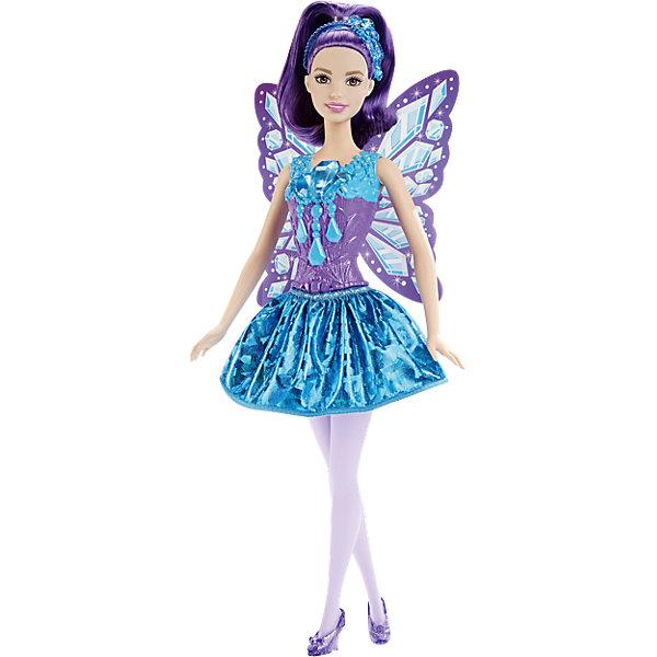Самоцветная кукла-фея Jewels, BarbieПопулярные игрушки<br>Очаровательная самоцветная кукла-фея Jewels станет прекрасным подарком для девочки. Кукла одета в красивое платье с яркой расцветкой и украшениями, волосы уложены с прическу в ободком. Все конечности подвижны, что позволит посадить куклу в подходящую для игры позу. Милые крылышки феи помогут девочке окунуться в мир волшебства вместе с Barbie.<br><br>Дополнительная информация:<br>Материал: пластик<br>Вес: 180 грамм<br>Самоцветную куклу-фею Jewels можно приобрести в нашем интернет-магазине.<br><br>Ширина мм: 329<br>Глубина мм: 126<br>Высота мм: 46<br>Вес г: 180<br>Возраст от месяцев: 36<br>Возраст до месяцев: 72<br>Пол: Женский<br>Возраст: Детский<br>SKU: 4349935