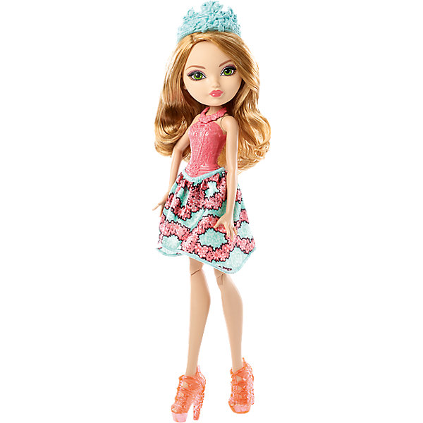 Кукла Эшлин Элла,  Ever After HighКуклы<br>Кукла Эшлин Элла, Ever After High, Mattel - оригинальная стильная кукла, которая порадует девочек любого возраста. В необычной школе Ever After High (Долго и счастливо) учатся дети известных сказочных персонажей, перед всеми из них стоит выбор - продолжить ли жизнь своих родителей или заниматься делом, которое им по душе. Таким образом, дети делятся на два лагеря Royal (наследники), которых устраивает привычная жизнь их родителей и Rebel (отступники), которые выбирают в жизни свой собственный путь. <br><br>Несмотря на все свои различия наследники и отступники хорошие друзья и любят проводить время вместе. Эшлин Элла (Ashlynn Ella) - дочь Золушки, она такая же милая, скромная и романтичная и мечтает встретить своего принца. У куклы длинные и мягкие каштановые волосы, которые можно укладывать в различные прически, и нежное красивое личико. Эшлин одета в симпатичное платье с бирюзовой юбкой, декорированной цветочным принтом, и обтягивающим лифом розового цвета. Наряд дополняют изящные розовые ботильоны, ожерелье и голубая ажурная диадема. Тело куколки на шарнирах, ноги и руки сгибаются и разгибаются, благодаря чему она может принимать различные положения. Кукла не может стоять самостоятельно.<br><br>Дополнительная информация:<br><br>- Материал: пластик, текстиль.<br>- Высота куклы: 30 см. <br>- Размер упаковки: 32,5 x 10 x 6 см.  <br>- Вес: 0,2 кг. <br><br>Куклу Эшлин Элла, Ever After High (Эвер Афтер Хай), Mattel, можно купить в нашем интернет-магазине.<br><br>Ширина мм: 330<br>Глубина мм: 109<br>Высота мм: 63<br>Вес г: 202<br>Возраст от месяцев: 72<br>Возраст до месяцев: 120<br>Пол: Женский<br>Возраст: Детский<br>SKU: 4349961