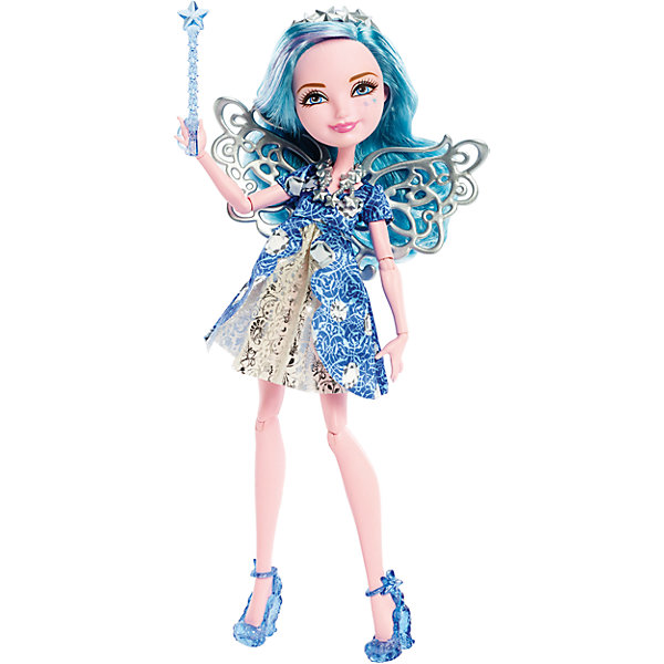 Кукла Фарра Гудфэйри, Ever After HighКуклы<br>Кукла Фарра Гудфэйри, Ever After High, Mattel - оригинальная стильная кукла, которая порадует девочек любого возраста. В необычной школе Ever After High (Долго и счастливо) учатся дети известных сказочных персонажей, перед всеми из них стоит выбор - продолжить ли жизнь своих родителей или заниматься делом, которое им по душе. Таким образом, дети делятся на два лагеря Royal (наследники), которых устраивает привычная жизнь их родителей и Rebel (отступники), которые выбирают в жизни свой собственный путь. <br><br>Несмотря на все свои различия наследники и отступники хорошие друзья и любят проводить время вместе. Фарра Гудфэйри (Farrah Goodfairy), дочь феи - Крестной Золушки, она также готовится стать феей как и ее мать, но втайне мечтает хоть раз самой побывать на балу и танцевать до полуночи. У куклы длинные голубые волосы, которые можно укладывать в различные прически и красивое личико. Красавица одета в роскошное синее платье с серебристой вставкой, украшенное растительным узором. Наряд дополняют изящные голубые туфельки на каблуках, серебряное ожерелье из звездочек и серебристый обруч в волосах. За спиной у Фарры красивые ажурные крылышки. Тело куколки на шарнирах, ноги и руки сгибаются и разгибаются, благодаря чему она может принимать различные положения. В комплект также входит волшебная палочка.<br><br>Дополнительная информация:<br><br>- В комплекте: кукла, подставка, расческа, дневник.<br>- Материал: пластик, текстиль.<br>- Высота куклы: 27 см. <br>- Размер упаковки: 32,5 x 23 x 7 см.  <br>- Вес: 0,27 кг. <br><br>Куклу Фарра Гудфэйри, Ever After High (Эвер Афтер Хай), Mattel, можно купить в нашем интернет-магазине.<br><br>Ширина мм: 327<br>Глубина мм: 205<br>Высота мм: 50<br>Вес г: 212<br>Возраст от месяцев: 72<br>Возраст до месяцев: 120<br>Пол: Женский<br>Возраст: Детский<br>SKU: 4349965