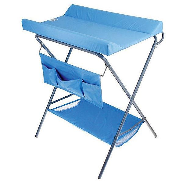 Пеленальный столик, Фея, голубойПеленальные столы<br>Характеристики:<br><br>• практичный пеленальный столик для проведения гигиенических процедур;<br>• есть возможность установить ванночку для купания новорожденного;<br>• обратите внимание: ванночка приобретается отдельно;<br>• внизу имеется тканевая корзина для детских вещей;<br>• имеется органайзер с кармашками для аксессуаров по уходу за малышом;<br>• столик компактно складывается;<br>• материал: алюминий, пластик, полиэстер;<br>• вес ребенка: до 13 кг;<br>• размер столика: 78,5х55,3х95 см;<br>• вес: 7 кг.<br><br>Компактный и практичный пеленальный столик используется во время пеленания новорожденного, проведения гигиенических процедур, смены подгузника. Дополнительно на основание столика можно установить ванночку – тогда мамочка сможет держать ровно спину в процессе купания младенца и не ощущать боли в пояснице. Доска откидная, не помешает установить ванночку. Столик для пеленания оснащен дополнительными отсеками, чтобы иметь все необходимое под рукой – корзинка внизу и боковые кармашки. Столик компактно складывается для хранения и транспортировки. <br><br>Пеленальный столик, Фея, голубой можно купить в нашем интернет-магазине.<br><br>Ширина мм: 915<br>Глубина мм: 410<br>Высота мм: 780<br>Вес г: 7000<br>Возраст от месяцев: 0<br>Возраст до месяцев: 12<br>Пол: Унисекс<br>Возраст: Детский<br>SKU: 4354305