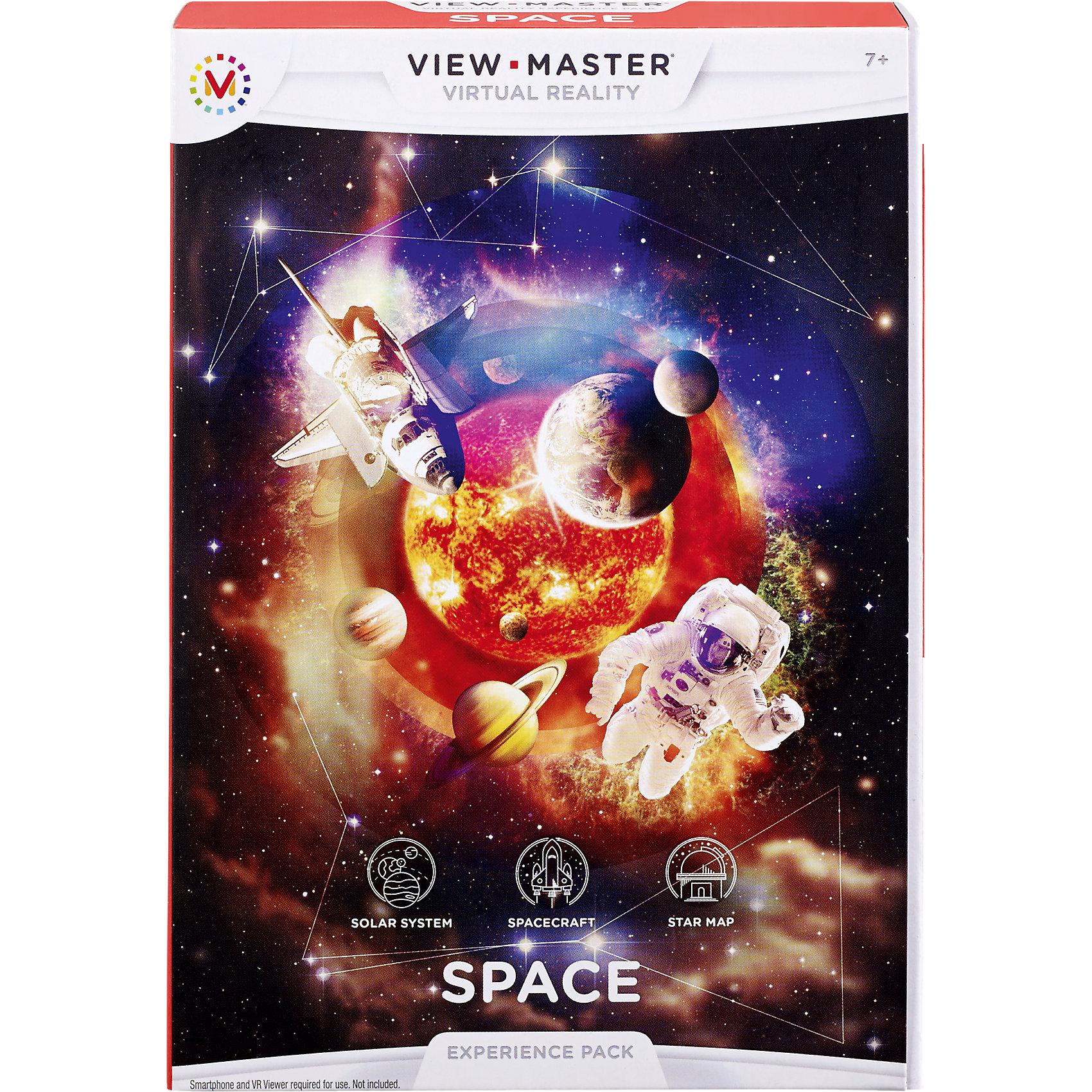 Приложение Космос для системы View MasterИгры для развлечений<br>Характеристики:<br><br>• Вид игр: обучающие<br>• Пол: универсальный<br>• Высокая четкость изображения<br>• Качественный звук<br>• Диски устойчивы к механическим повреждениям<br>• Для просмотра требуется смартфон и виртуальные очки View Master<br>• Тип упаковки: картонная коробка<br><br>Приложение Космос для системы View Master для системы View Master – тематический документальный фильм от National Geographic, предназначенный для просмотра с помощью виртуальных очков View Master. Просматривая фильм, Вы совершите захватывающее путешествие на космическом корабле, увидите карту звездного неба и познакомитесь с устройством солнечной системы. Эффект 3d изображения подарит Вам незабываемые впечатления и реальность присутствия. <br> <br>Приложение Космос для системы View Master для системы View Master можно купить в нашем интернет-магазине.<br><br>Ширина мм: 188<br>Глубина мм: 131<br>Высота мм: 33<br>Вес г: 222<br>Возраст от месяцев: 84<br>Возраст до месяцев: 132<br>Пол: Унисекс<br>Возраст: Детский<br>SKU: 4355891