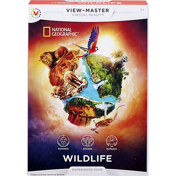 Приложение Дикая природа для системы View MasterДетские гаджеты<br>Характеристики:<br><br>• Вид игр: обучающие<br>• Пол: универсальный<br>• Высокая четкость изображения<br>• Качественный звук<br>• Диски устойчивы к механическим повреждениям<br>• Для просмотра требуется смартфон и виртуальные очки View Master<br>• Тип упаковки: картонная коробка<br><br>Приложение Дикая природа для системы View Master для системы View Master – тематический документальный фильм от National Geographic, предназначенный для просмотра с помощью виртуальных очков View Master. Просматривая фильм, Вы совершите захватывающее путешествие на Амазонку и в саванну, познакомитесь с растительным и животным миром этих уникальных мест. Эффект 3d изображения подарит Вам незабываемые впечатления и реальность присутствия. <br> <br>Приложение Дикая природа для системы View Master для системы View Master можно купить в нашем интернет-магазине.<br><br>Ширина мм: 185<br>Глубина мм: 137<br>Высота мм: 30<br>Вес г: 200<br>Возраст от месяцев: 84<br>Возраст до месяцев: 132<br>Пол: Унисекс<br>Возраст: Детский<br>SKU: 4355892