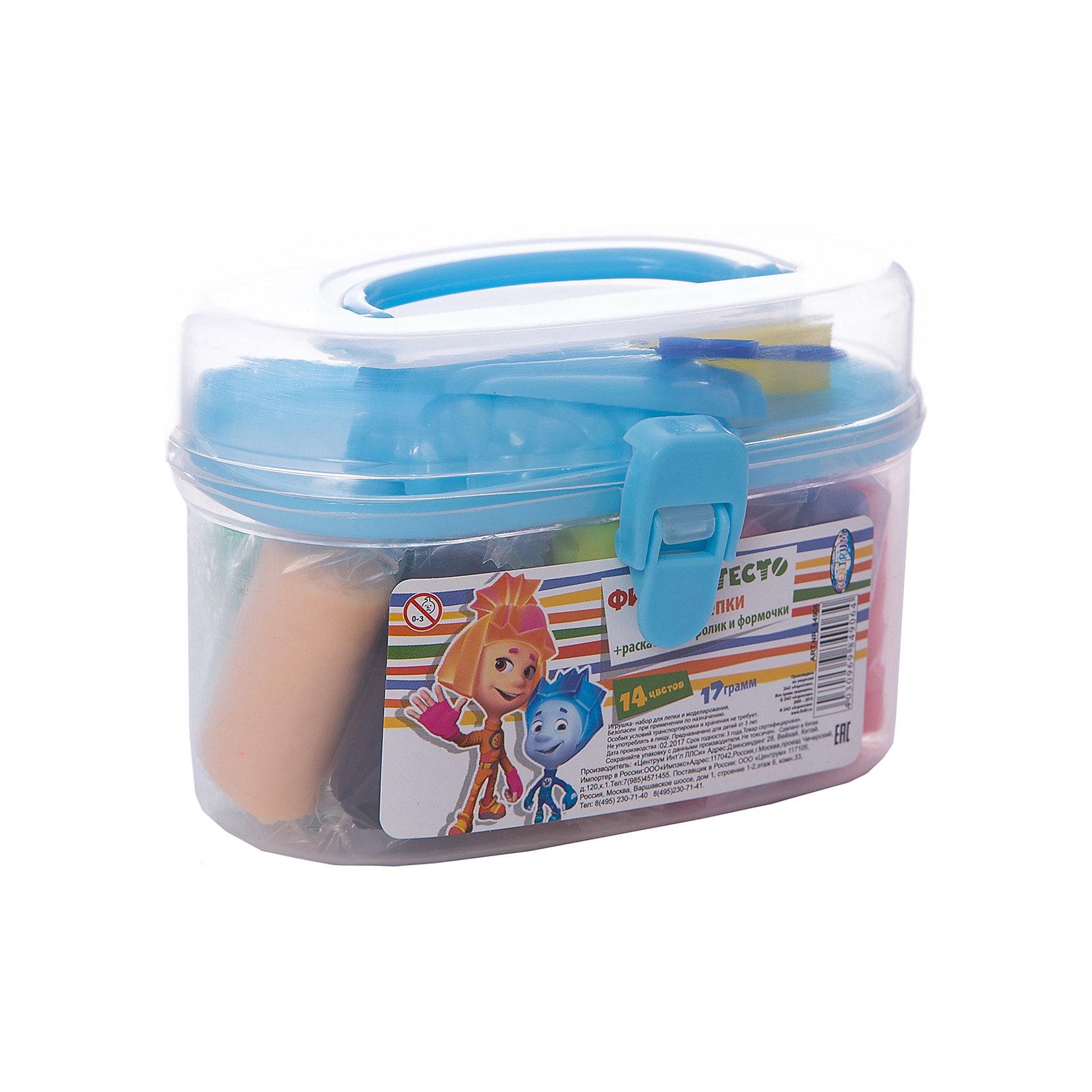 Набор теста для лепки Фиксики в сундуке,  14 цветовЛепка<br>Набор теста для лепки Фиксики замечательно подойдет для детского творчества и превратит лепку в увлекательное занятие. Яркие разнообразные цвета открывают ребенку простор для творческих экспериментов и позволят создавать различные фигурки и поделки. Мягкое тесто обладает отличными пластичными свойствами, не пачкается и не липнет к рукам, полностью застывает на открытом воздухе в течение суток. Цвета отлично смешиваются между собой, образуя новые оттенки. Тесто каждого цвета хранится в отдельном пакетике. В комплект также входят пластиковый ролик и 2 формочки. Весь набор упакован в пластиковый сундучок с ручкой для переноски. Занятия лепкой развивают у ребенка фантазию, творческие способности и объемное воображение, тренируют координацию движений и мелкую моторику.<br><br><br>Дополнительная информация:<br><br>- В комплекте: 14 цветов теста по 17 гр. (розовый, синий, сиреневый, красный, белый, зеленый, темно-оранжевый, желтый, черный, коричневый, салатовый, малиновый, бежевый, светло-оранжевый), пластиковый ролик, 2 формочки.<br>- Размер бруска с тестом: 4,2 х 2,3 см.<br>- Средняя длина формочки: 6 см.<br>- Размер упаковки: 11,5 х 5,5 х 8 см.<br>- Вес: 0,259 кг.<br><br>Набор теста для лепки Фиксики в сундуке, 14 цветов, Centrum, можно купить в нашем интернет-магазине.<br><br>Ширина мм: 60<br>Глубина мм: 120<br>Высота мм: 80<br>Вес г: 270<br>Возраст от месяцев: 36<br>Возраст до месяцев: 120<br>Пол: Унисекс<br>Возраст: Детский<br>SKU: 4356935
