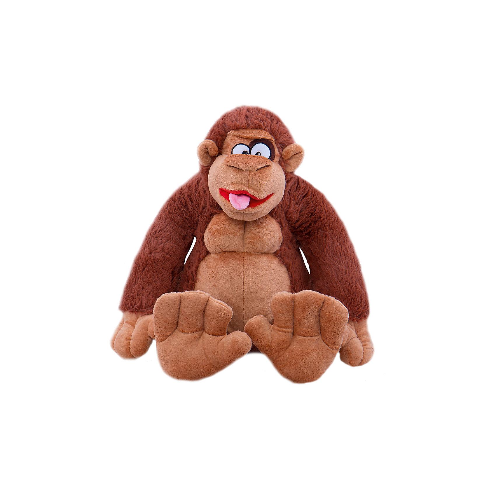 СмолТойс Орангутанг Гарик, 50 см, СмолТойс смолтойс мягкое кресло скругленное маша и медведь смолтойс розовый