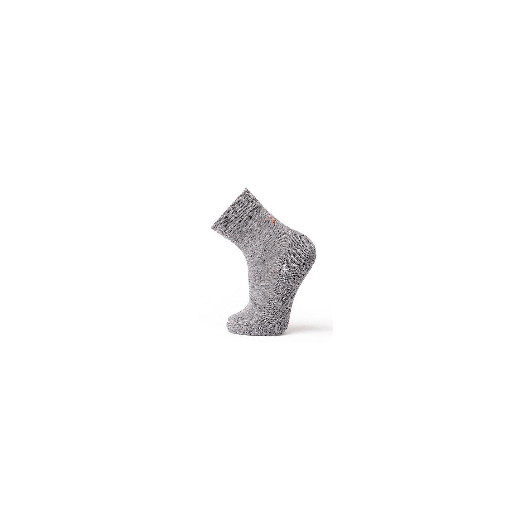 Носки NorvegNORVEG Soft Merino Wool <br><br>Отличительные особенности модели:<br>От -30?С до +5?С диапазон комфорта<br>Гипоаллергенные материалы в составе пряжи<br>Мягкая, комфортная в ношении, мериносовая шерсть со способностью терморегуляции и влагоотведения<br>Полиэстер и эластан для повышенной износостойкости и прочности<br>Усиленные области подошвы, носка и пятки<br>Эластичная вязка с облеганием свода стопы и щиколотки<br>Широкая анатомическая резинка<br>Плоские швы, не натирающие кожу<br><br>Состав: 87% Шерсть мериносов, 10% Полиэстер, 3% Эластан<br><br>Ширина мм: 87<br>Глубина мм: 10<br>Высота мм: 105<br>Вес г: 115<br>Цвет: серый<br>Возраст от месяцев: 18<br>Возраст до месяцев: 21<br>Пол: Унисекс<br>Возраст: Детский<br>Размер: 23-26,19-22,27-30,31-34,35-38<br>SKU: 4358112