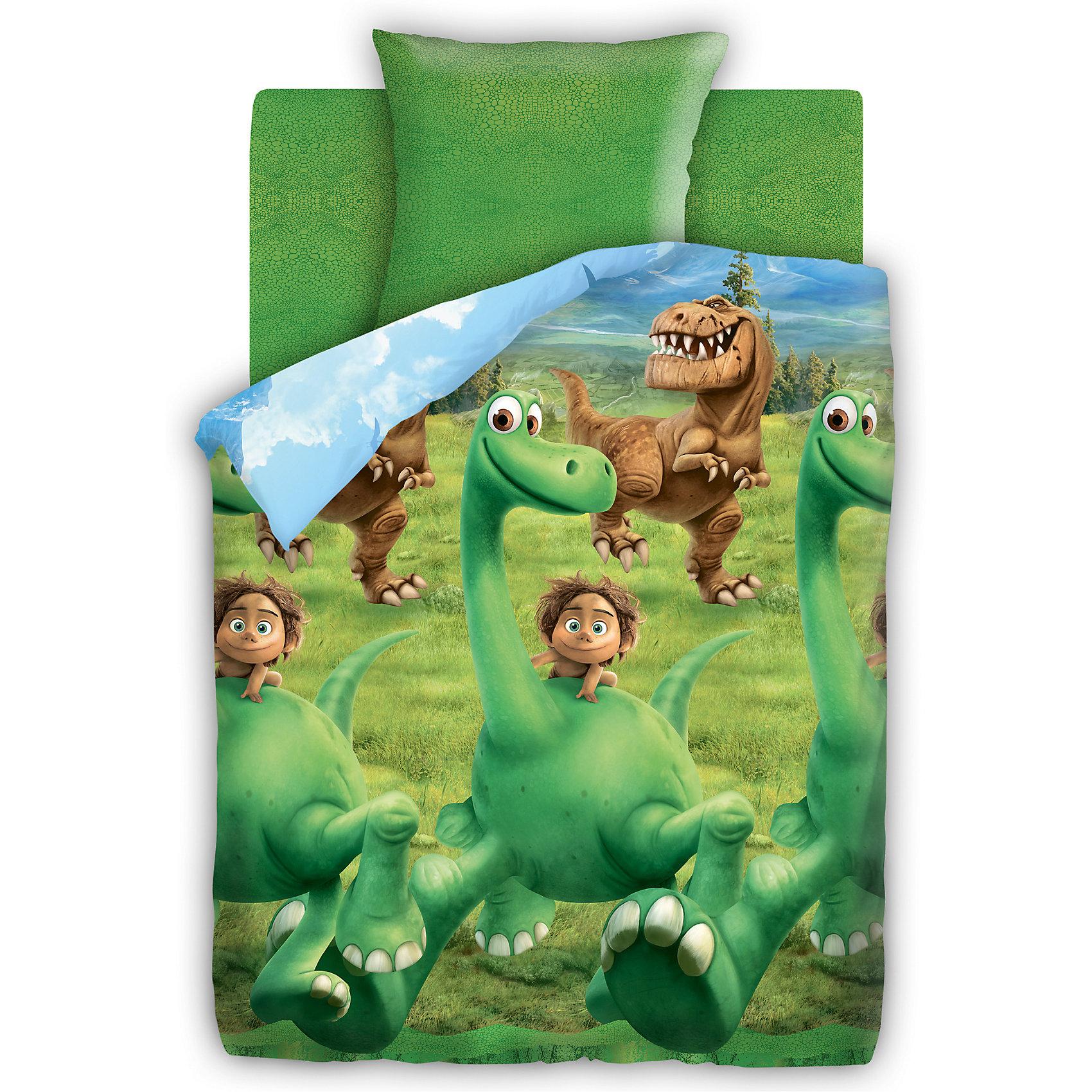 Комплект Хороший Динозавр 1,5-спальный (наволочка 70*70)Комплект с веселыми героями мультфильма Хороший Динозавр обязательно порадует и развеселит ребенка. Изделие выполнено из высококачественного хлопка, прекрасно сохраняет форму и цвет после стирки, очень приятно к телу. При производстве ткани использованы гипоаллергенные красители, разрешенные для детского постельного белья.<br><br>Дополнительная информация:<br><br>- Комплектация: наволочка (1 шт.), простыня (1 шт.), пододеяльник (1 шт.).<br>- 1,5-спальный.<br>- Материал: бязь  (100% хлопок).<br>- Плотность ткани: 115 г/м2<br>- Размер: наволочка -  70х70 см, простыня - 214х150 см , пододеяльник - 215х 43 см.<br>- Стирка при 40°С.<br>- Декоративные элементы: принт.<br><br>Комплект Хороший Динозавр 1,5-спальный (наволочка 70х70), можно купить в нашем магазине.<br><br>Ширина мм: 250<br>Глубина мм: 350<br>Высота мм: 70<br>Вес г: 1500<br>Возраст от месяцев: 36<br>Возраст до месяцев: 144<br>Пол: Унисекс<br>Возраст: Детский<br>SKU: 4358358