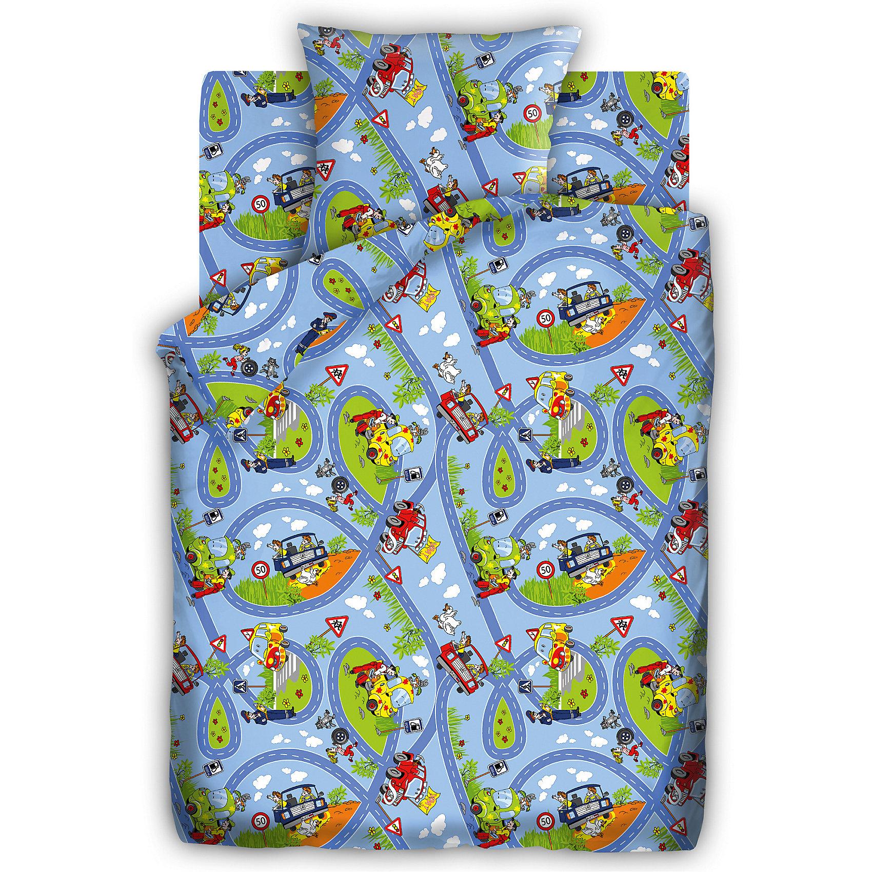 Детский комплект Светофор, Кошки-мышкиПостельное белье Светофор выполнено из натурального хлопка, отлично пропускает воздух, очень приятно к телу, что обеспечивает малышам крепкий и здоровый сон. В производстве ткани использованы высококачественные гипоаллергенные красители безопасные для детей. Белье с изображением ярких автомобилей и длинной извилистой дороги обязательно заинтересует и порадует ребенка, подарит ему добрые и яркие сны. <br><br>Дополнительная информация:<br><br>- Пододеяльник, простыня, наволочка (1 шт.)<br>- Размер: пододеяльник - 147х112, простыня -  150х110, наволочка 40х60.<br>- Материал: бязь (100% хлопок).<br>- Плотность ткани 115 г/м2<br>- Декоративные элементы: принт.<br><br>Детский комплект Светофор, Кошки-мышки, можно купить в нашем магазине.<br><br>Ширина мм: 250<br>Глубина мм: 350<br>Высота мм: 70<br>Вес г: 1500<br>Возраст от месяцев: 0<br>Возраст до месяцев: 60<br>Пол: Мужской<br>Возраст: Детский<br>SKU: 4358359