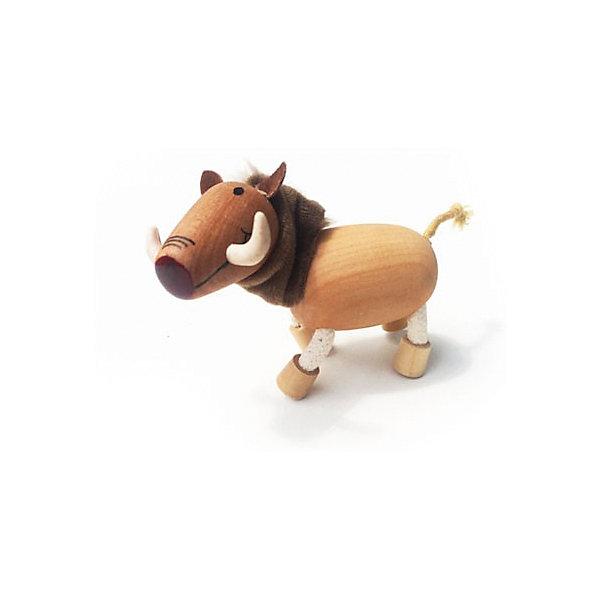 Кабан, AnaMalzМир животных<br>Милые деревянные зверюшки AnaMalz очаруют и детей и их родителей, а их трогательный внешний вид и оригинальный современный дизайн изменят Ваше привычное представление о деревянных игрушках. Придуманные австралийским дизайнером Луизой Косан-Скотт, деревянные фигурки покоряют своим уютом и пластичностью и уже завоевали множество наград, включая международную премию в области дизайна Standards Australia. Для изготовления игрушек используется быстрорастущее игольчатое дерево (schima superba), которое специально выращивают на плантациях. Отдельные детали зверюшек выполнены из натуральных тканей и термопластичной резины (TPR) - безопасного материала, который является экологичной альтернативой пластмассе. Все фигурки AnaMalz раскрашиваются вручную с использованием безопасной для детей краски.<br><br>У доброго деревянного кабана AnaMalz забавная мордочка с большими белыми клыками. Туловище, голова и копыта выполнены из дерева, а шея из мягкой натуральной ткани. Хвостик и ноги фигурки сделаны из гибкой веревки и гнутся в разные стороны, что позволяет зверюшке принимать различные позы. Игрушка, выполненная из дерева и различных фактур способствует развитию у ребенка тактильного восприятия и мелкой моторики.<br><br>Дополнительная информация:<br><br>- Материал: дерево, ткань.<br>- Размер: 7 х 4 х 9 см.<br>- Вес: 40 гр.<br><br>Кабана, AnaMalz, можно купить в нашем интернет-магазине.<br><br>Ширина мм: 9<br>Глубина мм: 4<br>Высота мм: 7<br>Вес г: 40<br>Возраст от месяцев: 36<br>Возраст до месяцев: 168<br>Пол: Унисекс<br>Возраст: Детский<br>SKU: 4358634