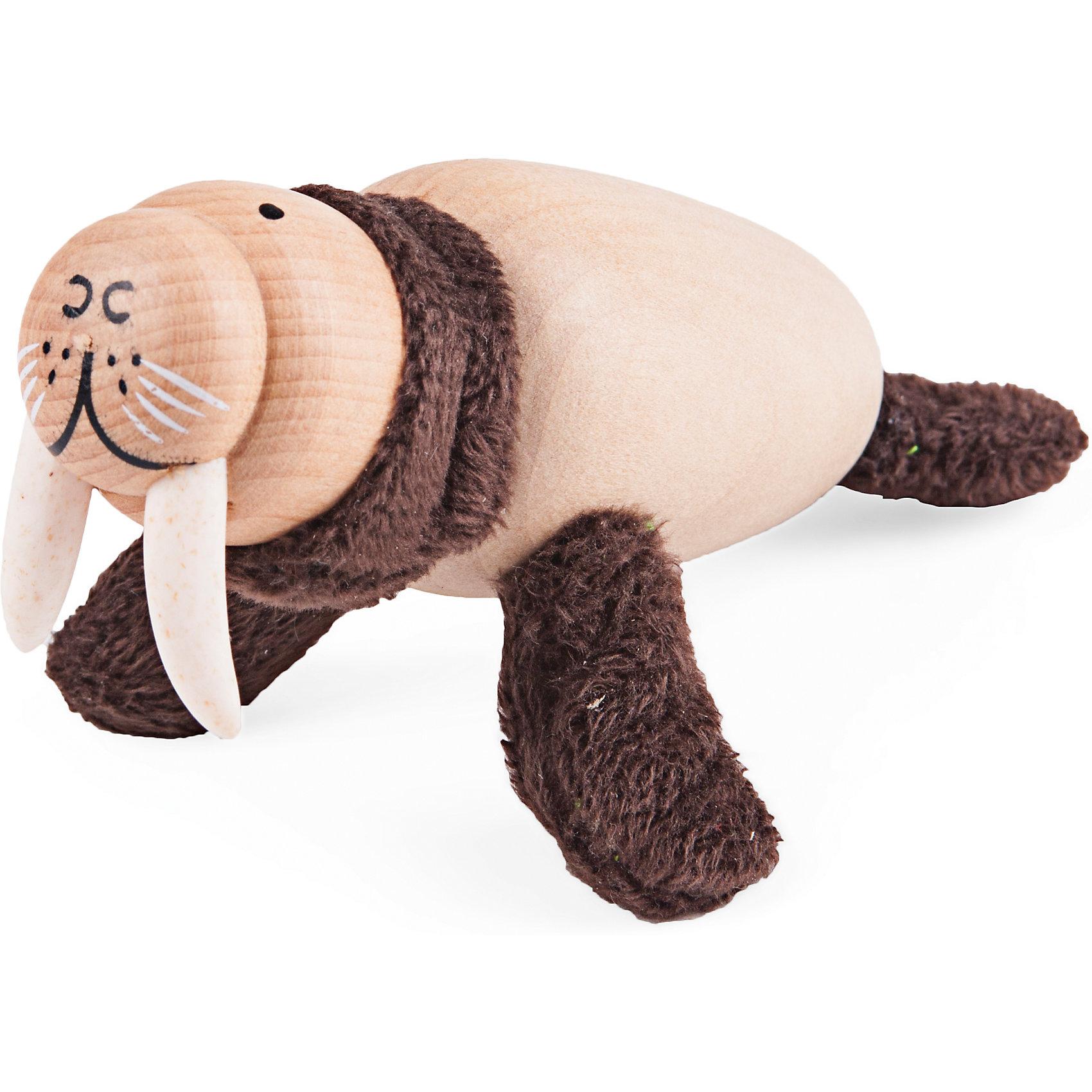 Морж, AnaMalzМилые деревянные зверюшки AnaMalz очаруют и детей и их родителей, а их трогательный внешний вид и оригинальный современный дизайн изменят Ваше привычное представление о деревянных игрушках. Придуманные австралийским дизайнером Луизой Косан-Скотт, деревянные фигурки покоряют своим уютом и пластичностью и уже завоевали множество наград, включая международную премию в области дизайна Standards Australia. Для изготовления игрушек используется быстрорастущее игольчатое дерево (schima superba), которое специально выращивают на плантациях. Отдельные детали зверюшек выполнены из натуральных тканей и термопластичной резины (TPR) - безопасного материала, который является экологичной альтернативой пластмассе. Все фигурки AnaMalz раскрашиваются вручную с использованием безопасной для детей краски.<br><br>У очаровательного деревянного моржа AnaMalz забавная мордочка с большими белыми клыками. Туловище и голова выполнены из дерева и имеют гладкую, приятную на ощупь поверхность, гибкие шея и ласты из мягкой натуральной ткани. Игрушка способствует развитию у ребенка тактильного восприятия и мелкой моторики.<br><br>Дополнительная информация:<br><br>- Материал: дерево, ткань.<br>- Размер: 6 х 3,5 х 12 см.<br>- Вес: 54 гр.<br><br>Моржа, AnaMalz, можно купить в нашем интернет-магазине.<br><br>Ширина мм: 12<br>Глубина мм: 3<br>Высота мм: 6<br>Вес г: 54<br>Возраст от месяцев: 36<br>Возраст до месяцев: 168<br>Пол: Унисекс<br>Возраст: Детский<br>SKU: 4358636