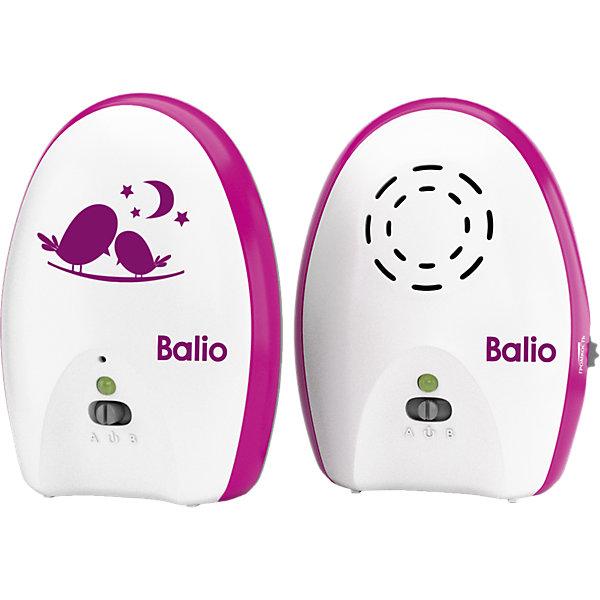 Радионяня МB-02 BalioРадионяни<br>Радионяня МB-02 Balio – это компактная беспроводная система аудио наблюдения за ребенком с дальностью до 200 метров.<br>Радионяня Balio имеет эффектный и стильный дизайн. Она порадует отличным качеством и продуманной функциональностью и станет верным помощником для молодых родителей. Теперь можно спокойно заниматься в другой комнате своими делами, пока малыш спит или играет в детской. Если возникнет необходимость присутствия родителей, радионяня вовремя предупредит. Радионяня МB-02 Balio состоит из двух основных элементов: передатчика (детского блока) и приемника (родительского блока). Детский блок работает в стационарном режиме с питанием от сетевого адаптера. Родительский блок может работать как от сетевого адаптера питания, так и от батареек или аккумуляторов (в комплект не входят), обеспечивающих возможность эксплуатации блока в переносном режиме.<br><br>Дополнительная информация:<br><br>- Комплектация: детский блок, родительский блок, сетевой адаптер 2 шт, инструкция<br>- Дальность до 200 метров<br>- Режим ожидания для снижения энергопотребления<br>- Голосовая активация<br>- Регулировка уровня звука<br>- Световая индикация низкого заряда батареи<br>- Фиксатор для крепления родительского блока на поясе или одежде<br>- Цвет: белый, розовый<br>- Размер упаковки: 16 х 20 х 7 см.<br>- Вес: 480 гр.<br>- Гарантия: 12 месяцев<br><br>Радионяню МB-02 Balio можно купить в нашем интернет-магазине.<br>Ширина мм: 70; Глубина мм: 190; Высота мм: 160; Вес г: 40; Возраст от месяцев: 0; Возраст до месяцев: 36; Пол: Унисекс; Возраст: Детский; SKU: 4361096;