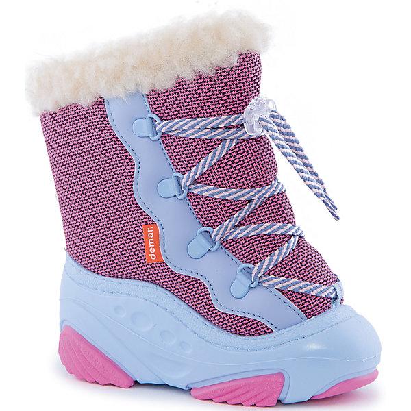 Сноубутсы Snow Mar для девочки DemarСноубутсы<br>Характеристики товара:<br><br>• цвет: розовый<br>• материал верха: текстиль<br>• материал подкладки: 100% натуральная шерсть <br>• материал подошвы: ТЭП<br>• температурный режим: от -25° до 0° С<br>• верх не продувается, пропитка от грязи и влаги<br>• анискользящая подошва<br>• шнуровка<br>• усиленные пятка и носок<br>• страна бренда: Польша<br>• страна изготовитель: Польша<br><br>Зима - это время катания с горок, игр в снежки, лепки снеговиков и прогулок в снегопад! Чтобы не пропустить главные зимние удовольствия, нужно запастись теплой и удобной обувью. Такие сапожки обеспечат ребенку необходимый для активного отдыха комфорт, а подкладка из натуральной овечьей шерсти позволит ножкам оставаться теплыми. Сапожки легко надеваются и снимаются, отлично сидят на ноге. Они удивительно легкие!<br>Обувь от польского бренда Demar - это качественные товары, созданные с применением новейших технологий и с использованием как натуральных, так и высокотехнологичных материалов. Обувь отличается стильным дизайном и продуманной конструкцией. Изделие производится из качественных и проверенных материалов, которые безопасны для детей.<br><br>Сапожки для девочки от бренда Demar (Демар) можно купить в нашем интернет-магазине.<br>Ширина мм: 257; Глубина мм: 180; Высота мм: 130; Вес г: 420; Цвет: розовый; Возраст от месяцев: 48; Возраст до месяцев: 60; Пол: Женский; Возраст: Детский; Размер: 28/29,24/25,26/27,22/23,20/21; SKU: 4366123;