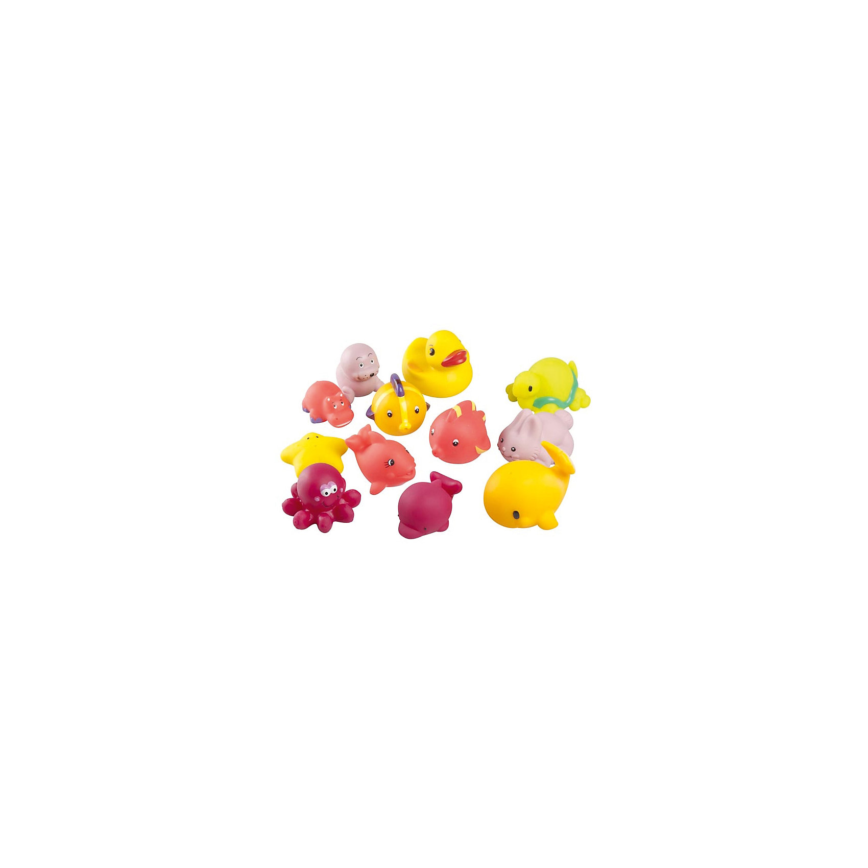 Игрушка для ванны А104921, 12 шт, BabymoovИгрушка для ванны А104921, 12 шт, Babymoov (Бейбимув) – набор доставит малышу немало веселых минут во время купания!<br>Двенадцать забавных игрушек для ванной сделают купание Вашего малыша весёлым и увлекательным. Симпатичные игрушки имеют яркие цвета, брызгаются водой. Их легко хватать маленькими ручками. Изготовлены из безопасного для здоровья малыша материала. Легко моются. Игрушки для ванной способствует развитию воображения, цветового восприятия, тактильных ощущений и мелкой моторики рук.<br><br>Дополнительная информация:<br><br>- В комплекте: 12 игрушек<br>- Материал: ПВХ<br>- Упаковка: пластиковая водонепроницаемая сумочка<br>- Размер упаковки: 10 х 15 х 15 см.<br>- Вес: 300 гр.<br><br>Игрушку для ванны А104921, 12 шт, Babymoov (Бейбимув) можно купить в нашем интернет-магазине.<br><br>Ширина мм: 100<br>Глубина мм: 150<br>Высота мм: 150<br>Вес г: 300<br>Возраст от месяцев: 0<br>Возраст до месяцев: 36<br>Пол: Унисекс<br>Возраст: Детский<br>SKU: 4369990