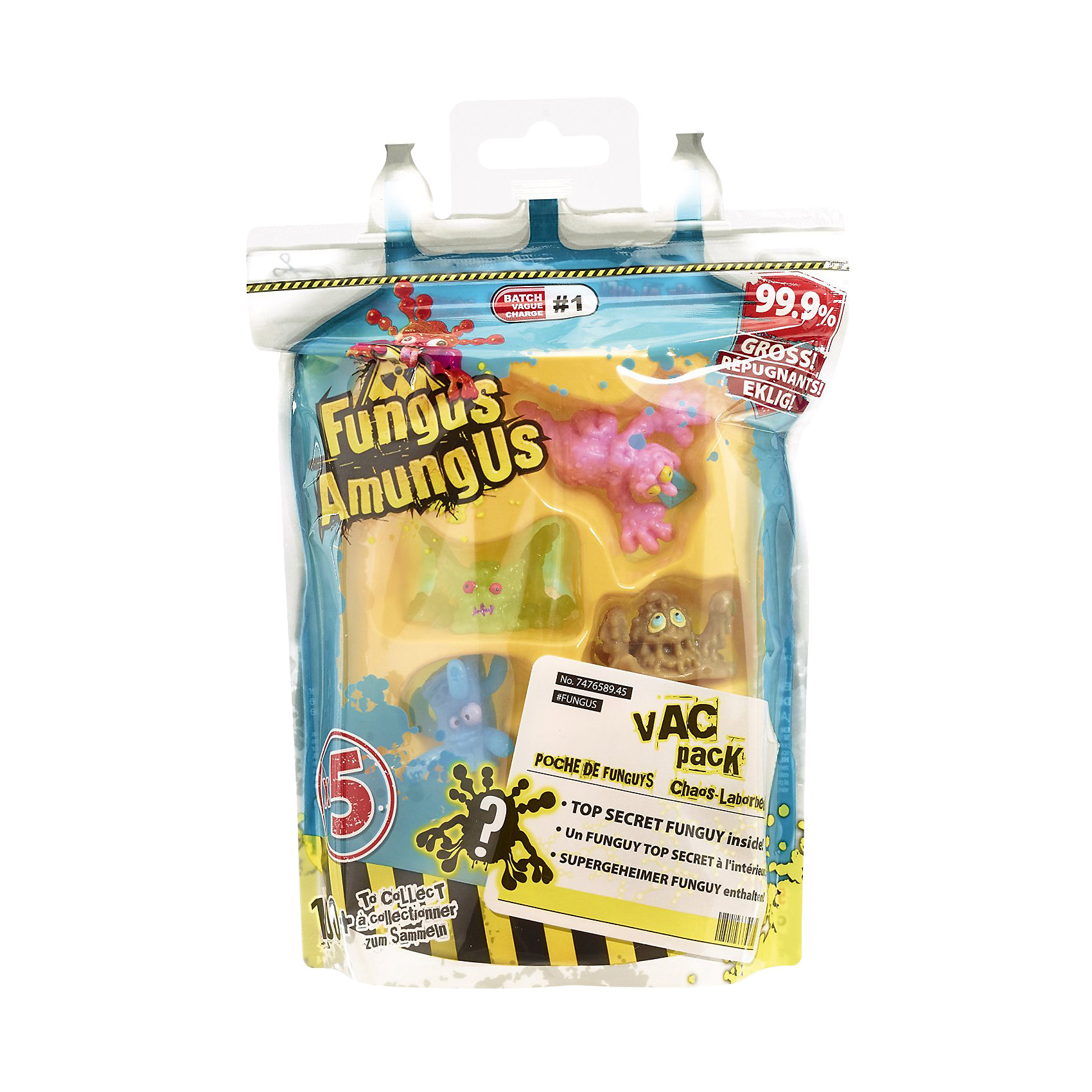 Игровой набор Вакуумный мешок Fungus Amungus, VividБластеры, пистолеты и прочее<br>Яркий набор игрушек - бактерий обязательно понравится Вашему ребенку!<br>Еще, в наборе находится руководство коллекционера: с помощью него можно легко определить, к какой из 7 групп микробов принадлежат Ваши персонажи и кого еще не хватает для полной коллекции.<br><br>Дополнительная информация:<br><br>- Возраст: от 4 лет.<br>- В наборе: мешок для микробов, 5 липких фигурок, буклет коллекционера.<br>- Материал: пластичный пластик.<br>- Размер фигурки: 3,5 см.<br>- Размер упаковки:  14.7x4.5x15.7 см.<br><br>Купить игровой набор Вакуумный мешок Fungus Amungus от Vivid, можно в нашем магазине.<br><br>Ширина мм: 174<br>Глубина мм: 136<br>Высота мм: 53<br>Вес г: 50<br>Возраст от месяцев: 48<br>Возраст до месяцев: 96<br>Пол: Мужской<br>Возраст: Детский<br>SKU: 4371248