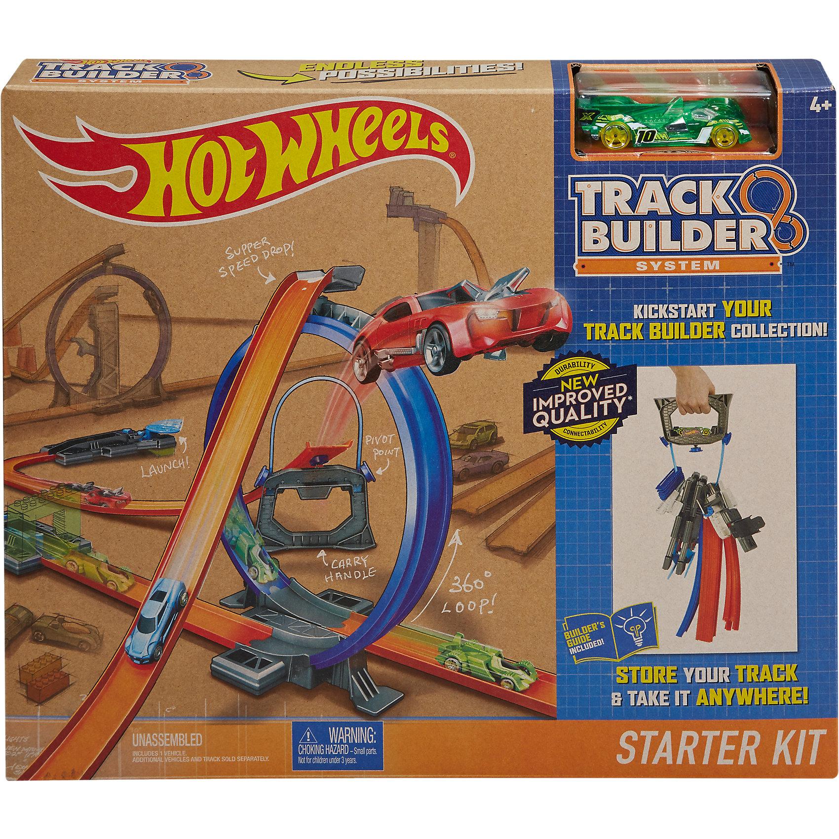 Конструктор трасс: стартовый набор Hot WheelsКонструктор трасс: стартовый набор, Hot Wheels, вызовет восторг у всех юных автолюбителей. Трек прекрасно подходит для первого знакомства с треками Track Builder или дополнит уже имеющиеся. Разнообразные детали можно комбинировать различными способами, создавая почти бесконечные вариации трасс. В стартовый набор Track Builder входят элементы оранжевой трассы, петля, рампы, пусковые механизмы, соединительные элементы, два поворота на 90 градусов и многое другое. Специальную петлю-держатель можно использовать как трамплин для машинок или как удобный инструмент для хранения и транспортировки деталей. Здесь же Вы найдете одну машинку Hot Wheels, поэтому к игре можно приступить немедленно! Набор сочетается с другими игровыми комплектами Хот Вилс, позволяя создавать оригинальные конфигурации, развязки, головокружительные спуски и трюки. Множество элементов и деталей предоставляют большой простор для фантазии - каждый сможет выстроить свою собственную трассу для захватывающих гонок.<br><br>Дополнительная информация:<br><br>- В комплекте: детали для сборки трека, 1 машинка Hot Wheels.<br>- Материал: пластик.<br>- Размер упаковки: 5 х 36 х 31 см.<br>- Вес: 0,748 кг.<br><br>Конструктор трасс: стартовый набор, Hot Wheels, можно купить в нашем интернет-магазине.<br><br>Ширина мм: 363<br>Глубина мм: 307<br>Высота мм: 58<br>Вес г: 798<br>Возраст от месяцев: 48<br>Возраст до месяцев: 84<br>Пол: Мужской<br>Возраст: Детский<br>SKU: 4373753