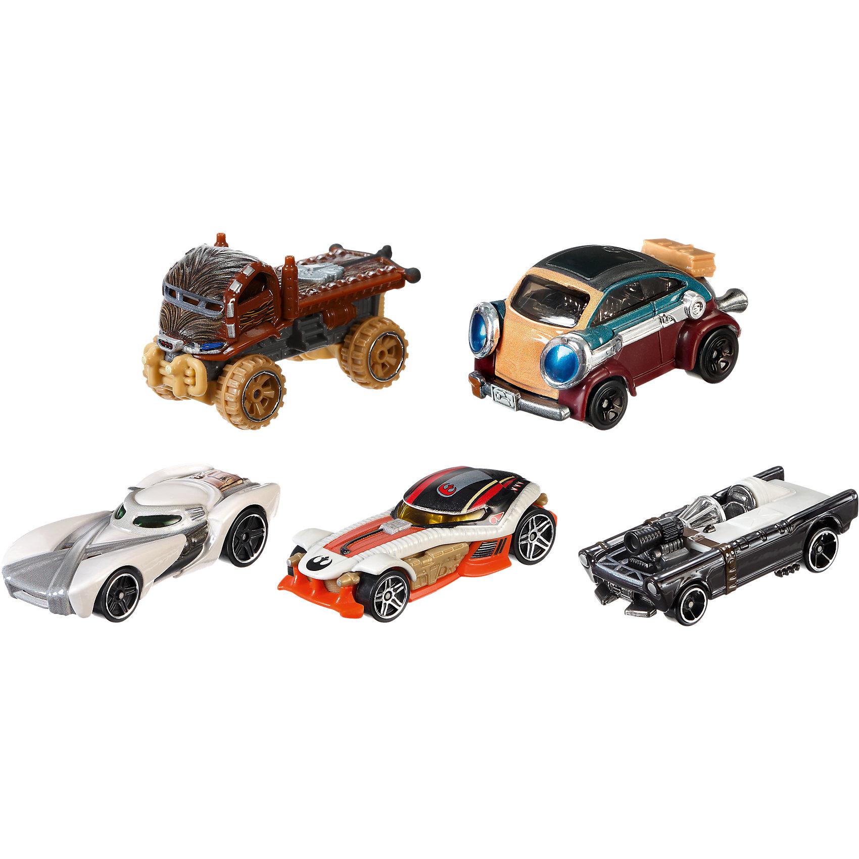 Набор из 5 машинок Звездные войны, Hot WheelsЗвездные войны<br>Набор из 5 машинок Звездные войны, Hot Wheels<br><br>Каждая из этих небольших игрушек в виде машинок выполнена <br>в масштабе 1:64. Машинки сделаны в стиле персонажей фильма «Звездные войны». Колесики машинок крутятся!<br>Набор изготовлен из качественного пластика с металлическими элементами. Машинки сделаны из высококачественных, легких и безопасных для детей материалов (из качественного пластика с высокой детализацией). Продается в красивой тематической упаковке.<br><br>Дополнительная информация:<br><br>цвет: разноцветный;<br>комплектация: 5 машинок;<br>материал: пластик, металл;<br>размер упаковки: 24 x 9 x 12 см;<br>упаковка: коробка.<br><br>Набор из 5 машинок Звездные войны, Hot Wheels можно купить в нашем магазине.<br><br>Ширина мм: 233<br>Глубина мм: 116<br>Высота мм: 86<br>Вес г: 277<br>Возраст от месяцев: 36<br>Возраст до месяцев: 72<br>Пол: Мужской<br>Возраст: Детский<br>SKU: 4373755