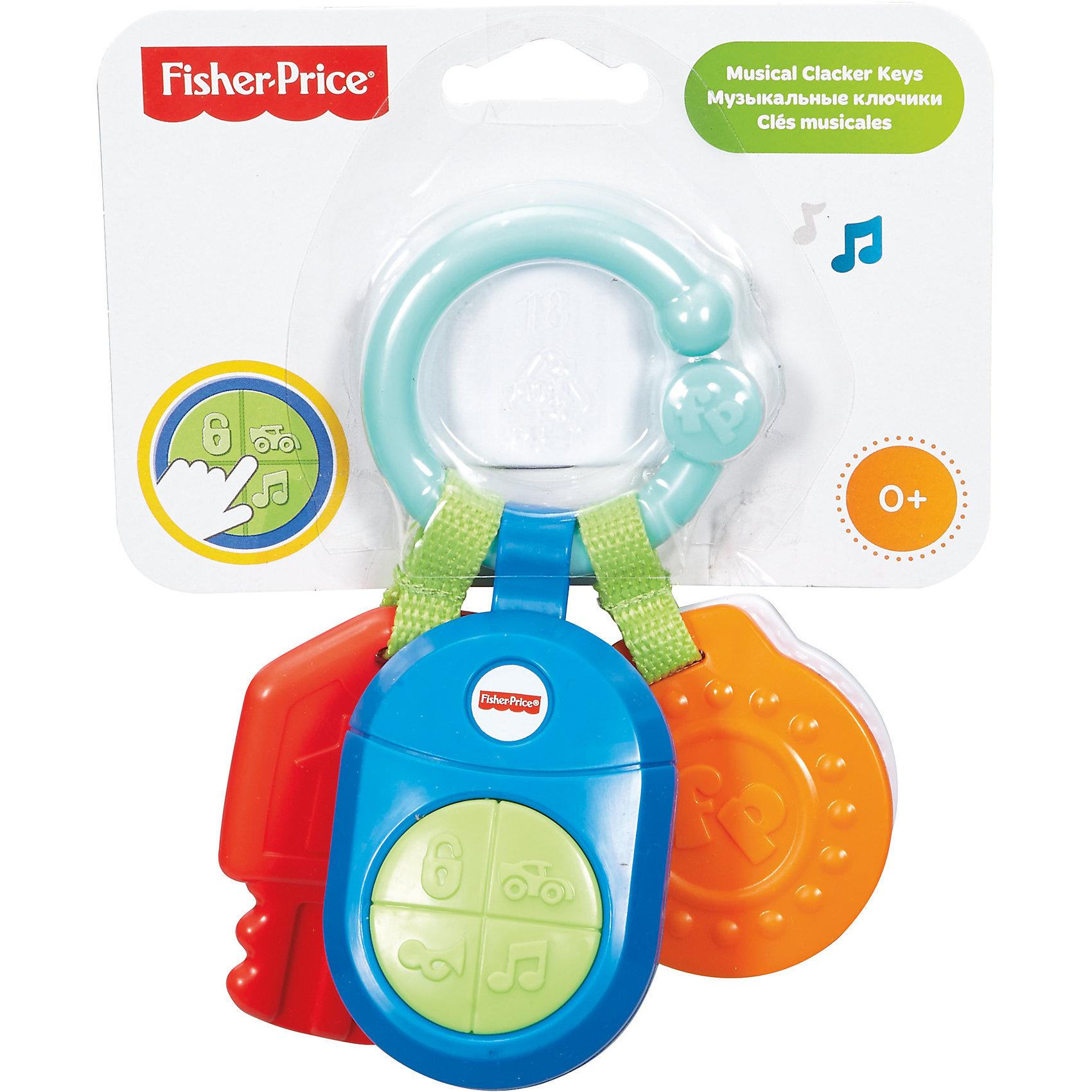 Прорезыватель - ключики, Fisher-PriceПрорезыватель - ключики от Fisher-Price (Фишер-Прайс) может малышам научиться различать цвета. На колечке - три прорезывателя, по форме напоминающие ключи (автомобильные и для дверей). Такие предметы привлекают внимание малышей и занимают их. <br>Прорезыватель - ключики от Fisher-Price (Фишер-Прайс) поможет ребенку  тренировать мелкую моторику благодаря рельефной поверхности. Предметы сделаны из высококачественных, легких и безопасных для малышей материалов. <br><br>Особенности товара:<br><br>комплектация: ключики и кольцо;<br>размер упаковки: 16х16х7 см;<br>вес: 0.25 кг;<br>материал: пластик.<br><br>Телефон музыкальный от бренда Fisher-Price (Фишер-Прайс) можно купить в нашем магазине.<br><br>Ширина мм: 173<br>Глубина мм: 142<br>Высота мм: 40<br>Вес г: 139<br>Возраст от месяцев: 0<br>Возраст до месяцев: 12<br>Пол: Унисекс<br>Возраст: Детский<br>SKU: 4375586