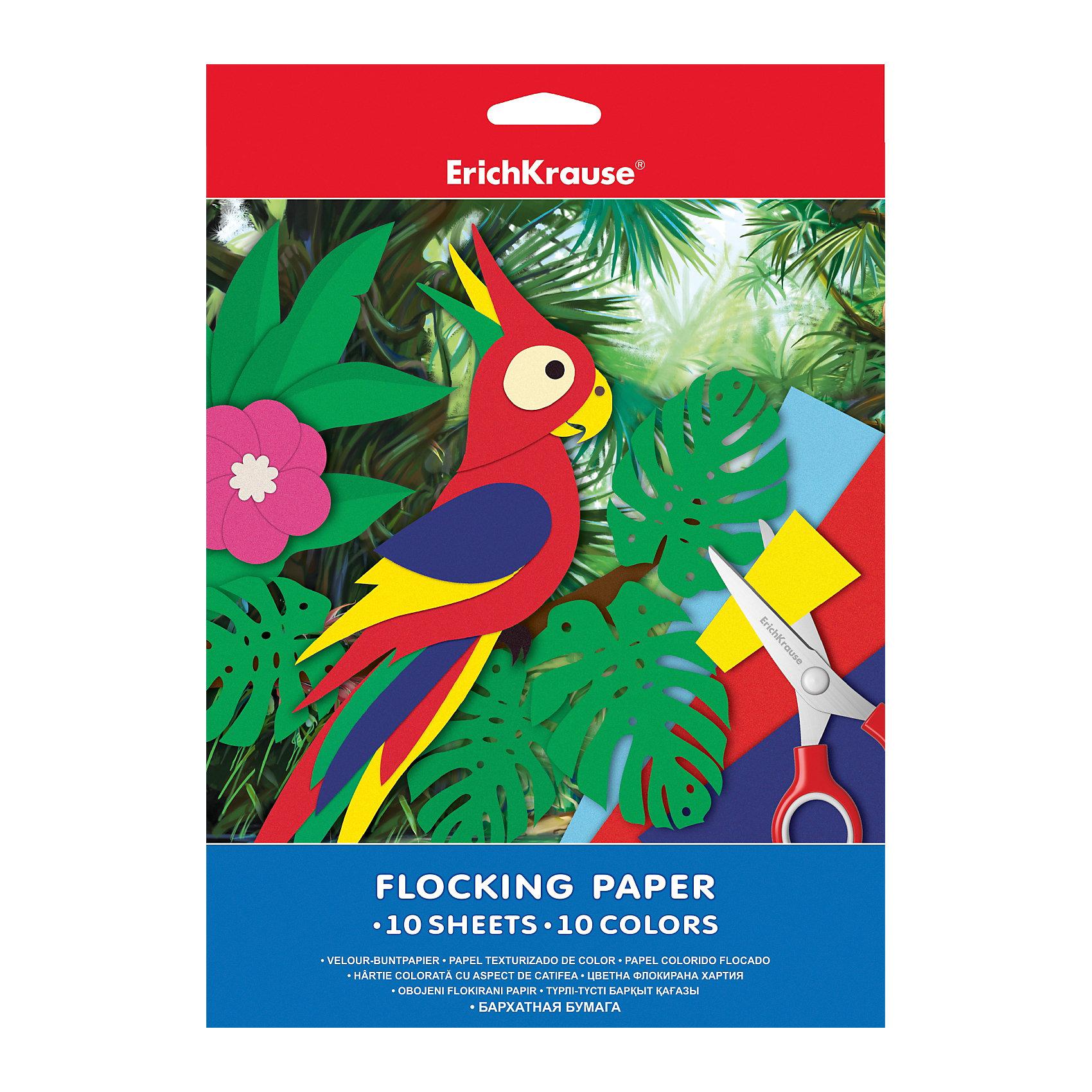 Бархатная бумага А4 (10 листов, 10 цветов)Бумажная продукция<br>Бархатная бумага - идеальный вариант для декорирования поделок, аппликаций. Она имеет бархатистую структуру, приятную наощупь,  отлично дополняет любую работу, придавая ей особый, торжественный вид.<br><br>Дополнительная информация:<br><br>- Материал: бумага, картон.<br>- Формат: А4.<br>- Количество листов: 10.<br>- Количество цветов: 10.<br><br>Бархатную бумагу А4 (10 листов, 10 цветов) можно купить в нашем магазине.<br><br>Ширина мм: 210<br>Глубина мм: 280<br>Высота мм: 5<br>Вес г: 133<br>Возраст от месяцев: 36<br>Возраст до месяцев: 108<br>Пол: Унисекс<br>Возраст: Детский<br>SKU: 4379661