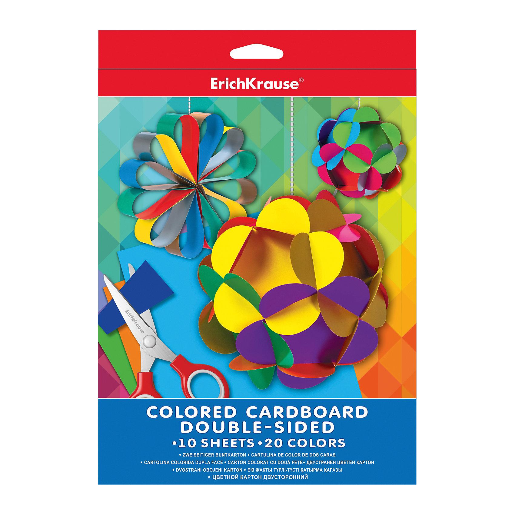 Двусторонний цветной картон А4 (10 листов, 20 цветов)Бумажная продукция<br>Цветной картон - неизменный атрибут детского творчества в садах, дома, в школе. Из него можно создать множество удивительных поделок, аппликаций, открыток. <br><br>Дополнительная информация:<br><br>- Материал: бумага, картон.<br>- Формат: А4.<br>- Количество листов: 20.<br>- Количество цветов: 10.<br><br>Двусторонний цветной картон А4 (10 листов, 20 цветов) можно купить в нашем магазине.<br><br>Ширина мм: 210<br>Глубина мм: 280<br>Высота мм: 5<br>Вес г: 169<br>Возраст от месяцев: 36<br>Возраст до месяцев: 108<br>Пол: Унисекс<br>Возраст: Детский<br>SKU: 4379663