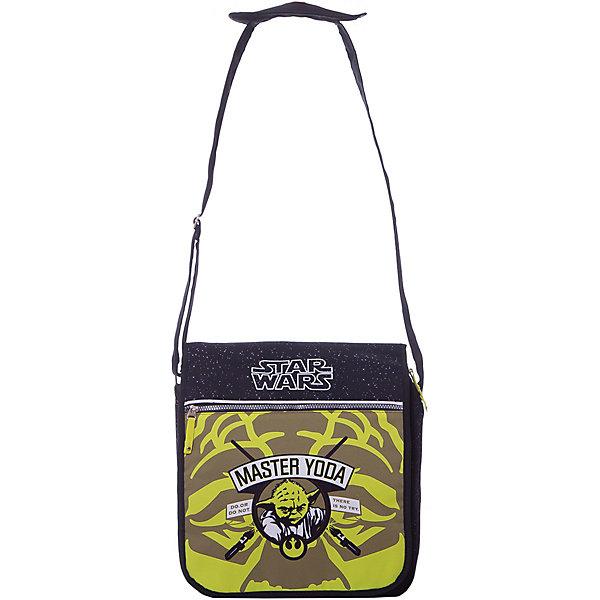 Школьная сумка Звездные войны, в ассортиментеШкольные сумки<br>Школьная сумка Star Wars понравится всем поклонникам легендарной саги. Сумка оснащена плечевой лямкой с мягкой накладкой, уменьшающей давление на плечо. Модель имеет одно основное отделение, закрывающееся на молнию и клапан на липучке. Внутри есть врезной карман на молнии. Под клапаном расположены врезной и накладной карманы на молнии, карман под телефон с хлястиком на липучке и два отделения под канцелярские принадлежности. На клапане расположен дополнительный карман на застежке-молнии. Сзади сумка имеет ещё один большой карман на молнии. Модель оформлена печатным рисунком с изображением имперского штурмовика.<br><br>Дополнительная информация:<br><br>Дополнительная информация:<br><br>- Материал: полиэстер, пластик.<br>- Размер: 36х31х11 см.<br>- Количество отделений: 1.<br>- Количество карманов: 7.<br>- Регулируемый плечевой ремень с мягкой накладкой. <br>- Декоративные элементы: рисунок.<br>- Тип застежки: молния.<br><br>Школьную сумку Звездные войны (Star Wars) можно купить в нашем магазине.<br>Ширина мм: 360; Глубина мм: 60; Высота мм: 370; Вес г: 617; Возраст от месяцев: 108; Возраст до месяцев: 204; Пол: Мужской; Возраст: Детский; SKU: 4379673;