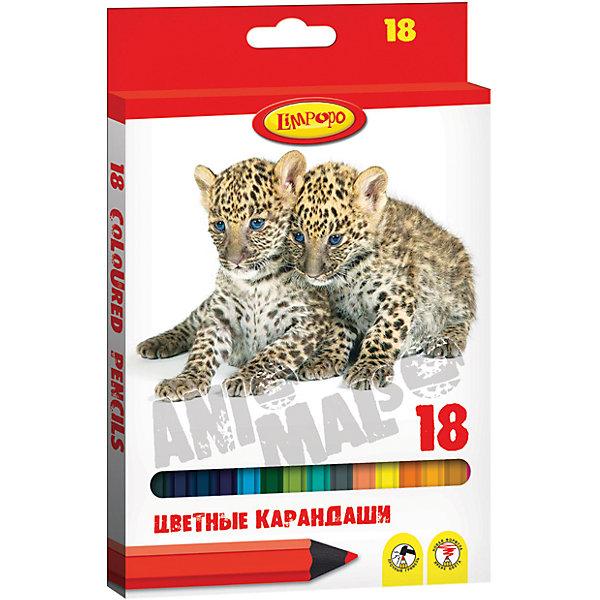 Карандаши цветные Хищники, 18цв.Карандаши для творчества<br>Карандаши цветные Хищники, 18цв. - это прекрасный творческий набор для юного художника.<br>Карандаши цветные Хищники обладают яркими насыщенными цветами и не требуют сильного нажатия, поэтому ими очень легко рисовать, раскрашивать и писать. С помощью этих карандашей ребенок будет увлеченно создавать свои маленькие произведения искусства, развивая воображение, мелкую моторику, координацию движений, цветовосприятие и усидчивость. Корпус карандашей изготовлен из пластика, имеет яркую глянцевую поверхность. У карандашей прочный грифель, который не сломается при заточке и не раскрошится внутри корпуса, если ребёнок нечаянно уронит карандаш на пол. Карандаши легко затачиваются, легко стираются резинкой, безопасны при использовании по назначению.<br><br>Дополнительная информация:<br><br>- Материал корпуса: пластик<br>- Количество цветов: 18<br>- Диаметр стержня: 2,8 мм.<br>- Упаковка: коробка с европодвесом из водостойкого ламинированного картона<br>- Размер упаковки: 21 х 13 см.<br>- Вес: 95 гр.<br><br>Карандаши цветные Хищники, 18цв. можно купить в нашем интернет-магазине.<br><br>Ширина мм: 210<br>Глубина мм: 130<br>Высота мм: 10<br>Вес г: 95<br>Возраст от месяцев: 48<br>Возраст до месяцев: 96<br>Пол: Унисекс<br>Возраст: Детский<br>SKU: 4383096
