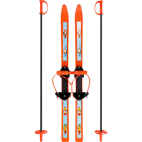 Лыжи детские Вираж-спорт с палками, ЦиклЛыжи и сноуборды<br>Детские лыжи Вираж-спорт с палками - отличный вариант для активного веселого зимнего отдыха и занятий спортом. Широкие лыжи с простыми креплениями отлично подойдут как для дошкольников, которые только учатся кататься, так и для младших школьников. Выполнены из морозостойкого полипропилена, который отличается гибкостью и стойкостью к истиранию и обеспечивает прекрасное скольжение по снежной поверхности. Полужесткие крепления состоят из металлической скобы и двух ремней, они одеваются на повседневную обувь и надежно крепят лыжу на ноге. Ремешки регулируются до нужного размера. На лыжах в месте крепления имеются резиновые накладки, которые не дают ногам соскальзывать во время передвижения. В комплект входят алюминиевые лыжные палки с удобными ручками и травмобезопасными пластиковыми наконечниками. <br><br>Дополнительная информация:<br><br>- Материал: полипропилен, алюминий.<br>- Длина лыж: 100 см.<br>- Толщина лыж: 5 мм. <br>- Длина палок: 100 см.<br>- Диаметр ал. трубы: 1,2 см. <br>- Толщина ал. трубы: 1 мм. <br>- Размер обуви: 28-36. <br>- Размер упаковки: 66 х 13 х 11 см.<br>- Вес: 1,4 кг.<br><br>Лыжи детские Вираж-спорт с палками, Цикл, можно купить в нашем интернет-магазине.<br>Ширина мм: 1050; Глубина мм: 150; Высота мм: 110; Вес г: 1400; Возраст от месяцев: 60; Возраст до месяцев: 120; Пол: Унисекс; Возраст: Детский; SKU: 4383755;