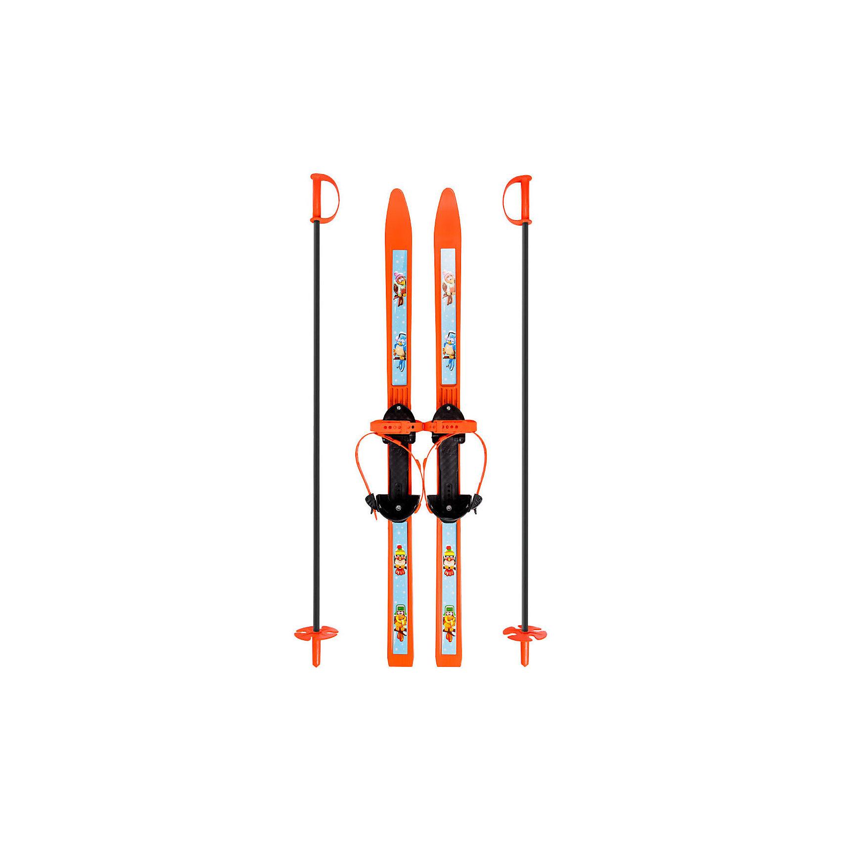 Лыжи детские Вираж-спорт с палками, ЦиклЛыжи и сноуборды<br>Детские лыжи Вираж-спорт с палками - отличный вариант для активного веселого зимнего отдыха и занятий спортом. Широкие лыжи с простыми креплениями отлично подойдут как для дошкольников, которые только учатся кататься, так и для младших школьников. Выполнены из морозостойкого полипропилена, который отличается гибкостью и стойкостью к истиранию и обеспечивает прекрасное скольжение по снежной поверхности. Полужесткие крепления состоят из металлической скобы и двух ремней, они одеваются на повседневную обувь и надежно крепят лыжу на ноге. Ремешки регулируются до нужного размера. На лыжах в месте крепления имеются резиновые накладки, которые не дают ногам соскальзывать во время передвижения. В комплект входят алюминиевые лыжные палки с удобными ручками и травмобезопасными пластиковыми наконечниками. <br><br>Дополнительная информация:<br><br>- Материал: полипропилен, алюминий.<br>- Длина лыж: 100 см.<br>- Толщина лыж: 5 мм. <br>- Длина палок: 100 см.<br>- Диаметр ал. трубы: 1,2 см. <br>- Толщина ал. трубы: 1 мм. <br>- Размер обуви: 28-36. <br>- Размер упаковки: 66 х 13 х 11 см.<br>- Вес: 1,4 кг.<br><br>Лыжи детские Вираж-спорт с палками, Цикл, можно купить в нашем интернет-магазине.<br><br>Ширина мм: 1050<br>Глубина мм: 150<br>Высота мм: 110<br>Вес г: 1400<br>Возраст от месяцев: 60<br>Возраст до месяцев: 120<br>Пол: Унисекс<br>Возраст: Детский<br>SKU: 4383755