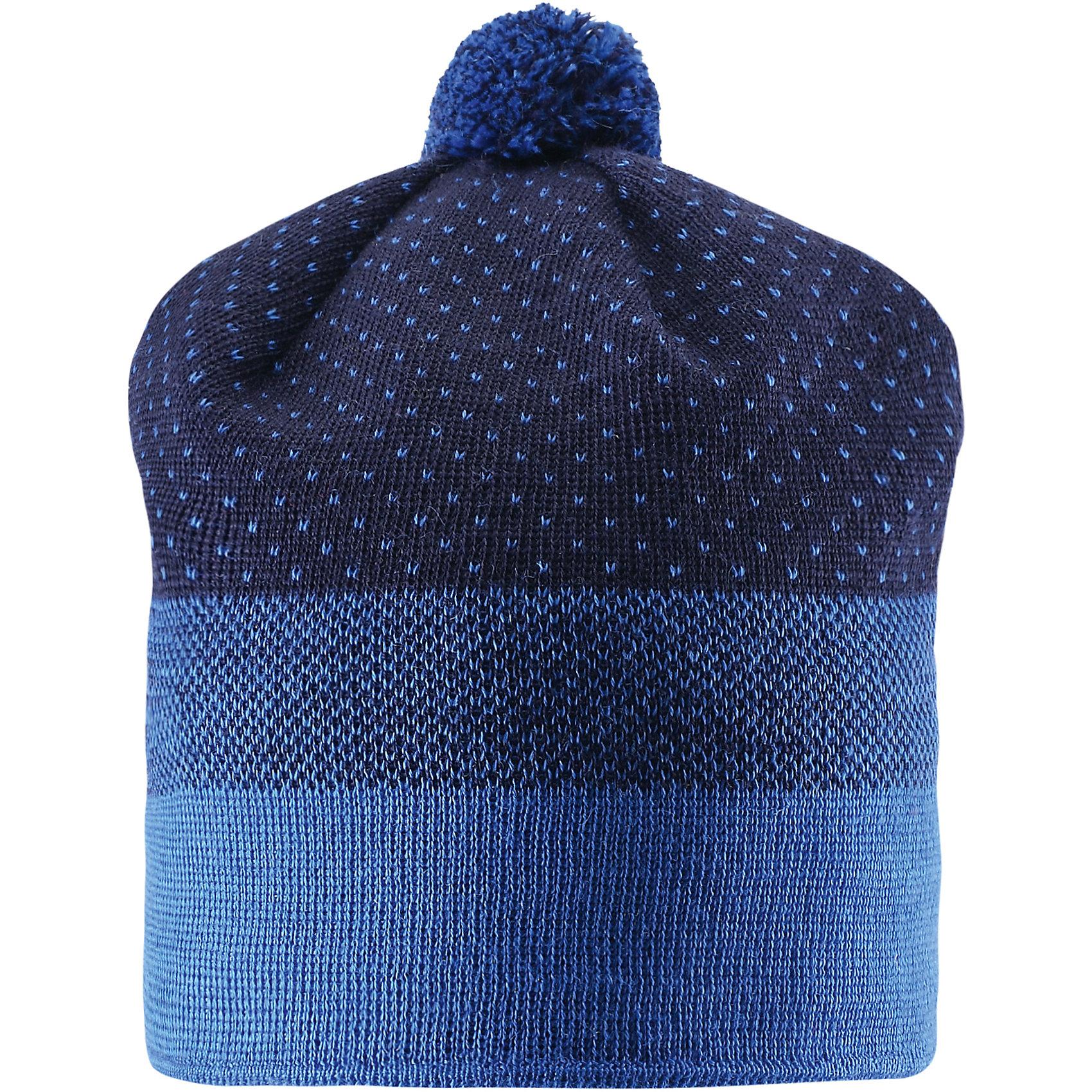 Шапка для мальчика LASSIEУтепленная шапка из шерсти и акрила с мягкой флисовой подкладкой отлично сохраняет тепло. На макушке мягкий помпон.<br><br>Дополнительная информация:<br><br>Состав: 50% шерсть, 50% акрил.<br>Подкладка: флис 100% полиэстер. <br>Ветронепроницаемые вставки в области ушей.<br>Светоотражающая эмблема Lassie.<br>Температурный режим до -15<br><br>Шапку для мальчика LASSIE можно купить в нашем магазине.<br><br>Ширина мм: 89<br>Глубина мм: 117<br>Высота мм: 44<br>Вес г: 155<br>Цвет: синий<br>Возраст от месяцев: 12<br>Возраст до месяцев: 24<br>Пол: Мужской<br>Возраст: Детский<br>Размер: 46-48,54-56,50-52<br>SKU: 4385303