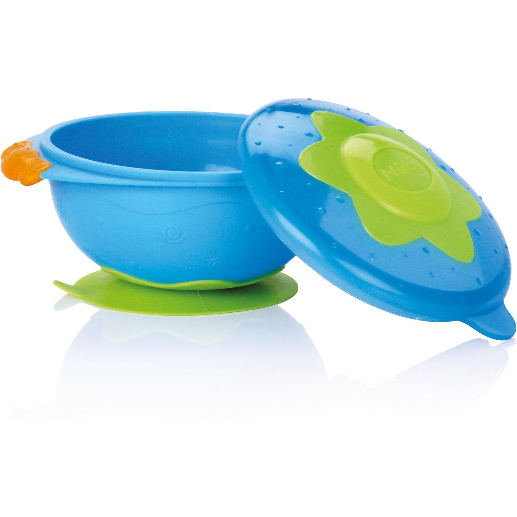 Тарелка на присоске для СВЧ, Nuby, голубойТарелки<br>Тарелка на присоске Nuby для микроволновой печи. <br>Процесс кормления ребенка должен быть легким для мамы и интересным для малыша. Именно эту задачу выполняет серия «Улёт! посуда». Тарелка изготовлена из прочного небьющегося пластика и подходит для ежедневного кормления ребенка. Ее удобно использовать во время путешествий или прогулок. Такую тарелку легко держать как левой, так и правой рукой. <br>Она достаточно глубокая и подходит для хранения любого вида пищи. Плотная крышка надежно закрывается и не допускает протекания или вытекания содержимого. Вы можете выбирать и комбинировать предметы серии «Улёт! посуда» по своему вкусу. <br>Тарелку на присоске Nuby для микроволновой печи можно купить в нашем интернет магазине.<br><br>Ширина мм: 159<br>Глубина мм: 223<br>Высота мм: 132<br>Вес г: 136<br>Цвет: голубой<br>Возраст от месяцев: 9<br>Возраст до месяцев: 24<br>Пол: Унисекс<br>Возраст: Детский<br>SKU: 4385875